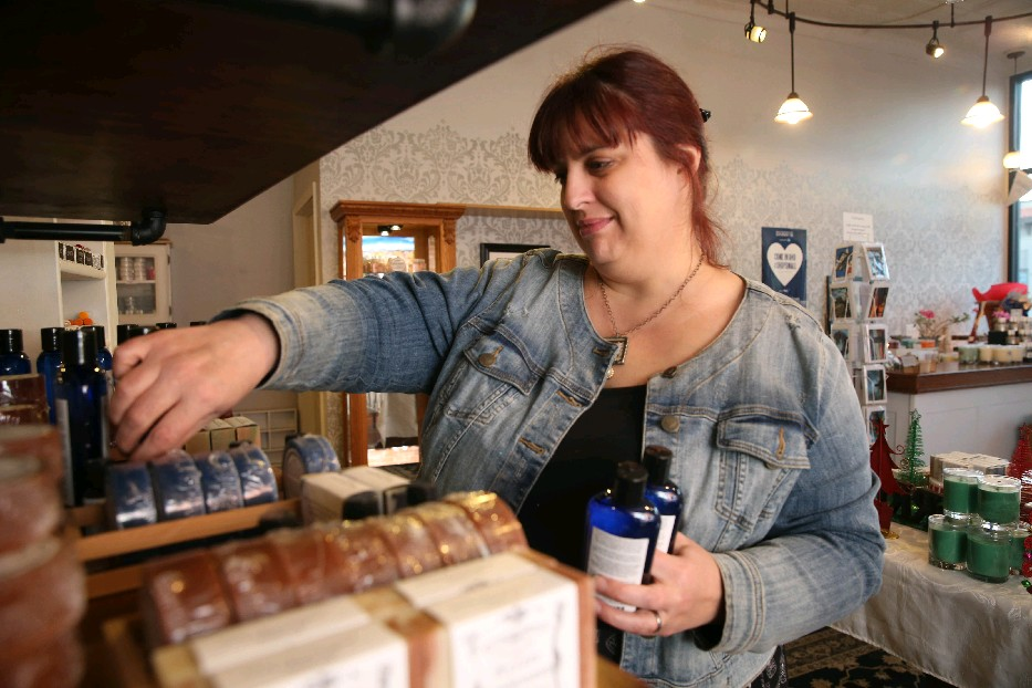 Heather Kalisiak is the owner of Martinsville Soapworks in North Tonawanda. Small Business Saturday is a huge day for her business. (Sharon Cantillon/Buffalo News)