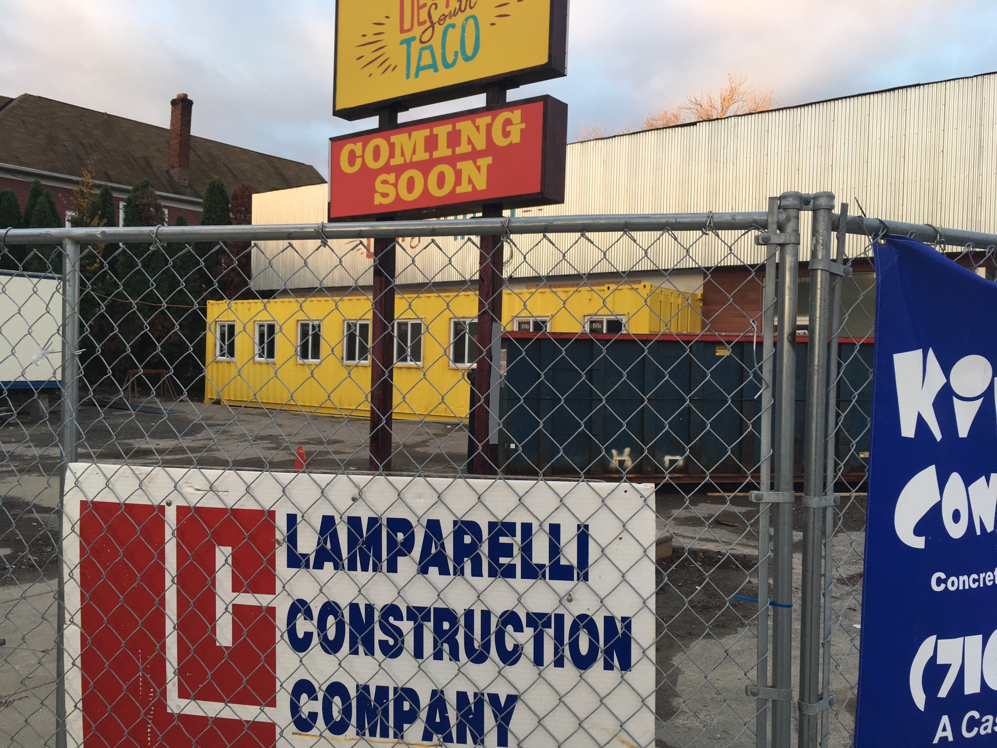 I was walking past Hertel and Starin avenues this morning, so took this picture to show everyone latet on Deep South Taco buildng.