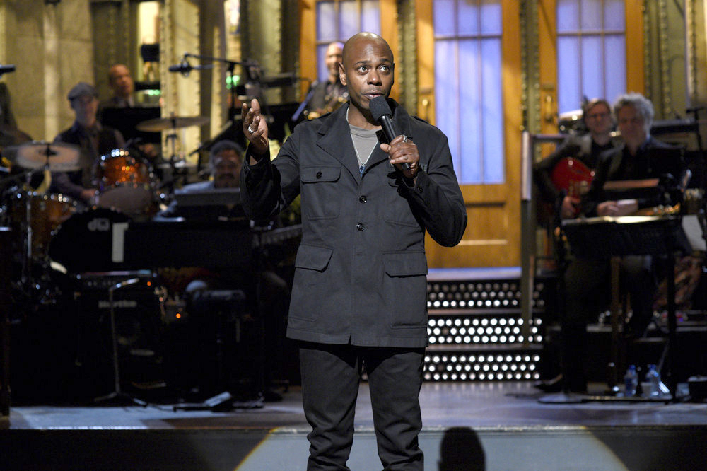 Host Dave Chappelle during his 'Saturday Night Live' monologue on Nov. 12. (Will Heath, NBC)