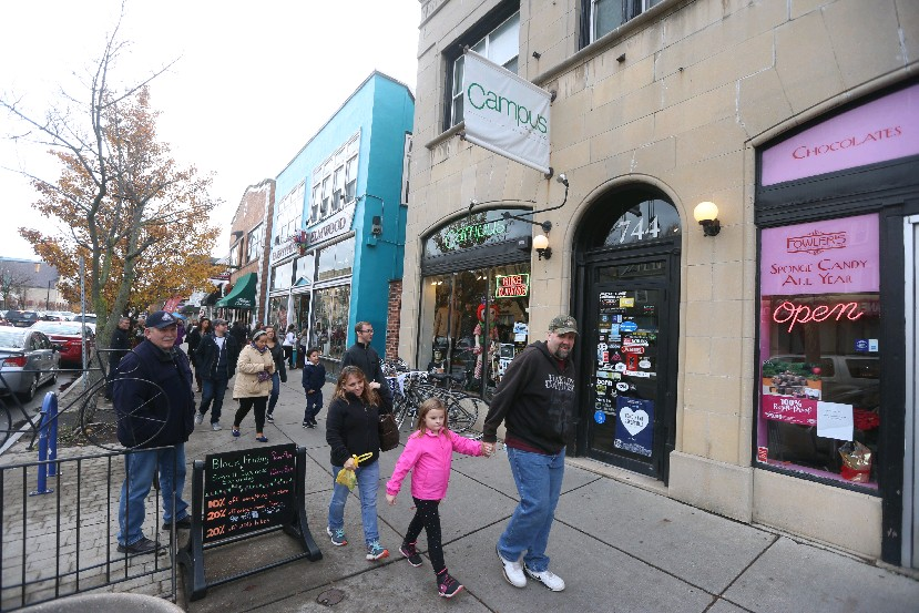 Holiday shopping in the Elmwood Village will be just as plentiful when December descends Thursday, just not as warm. (John Hickey/Buffalo News)