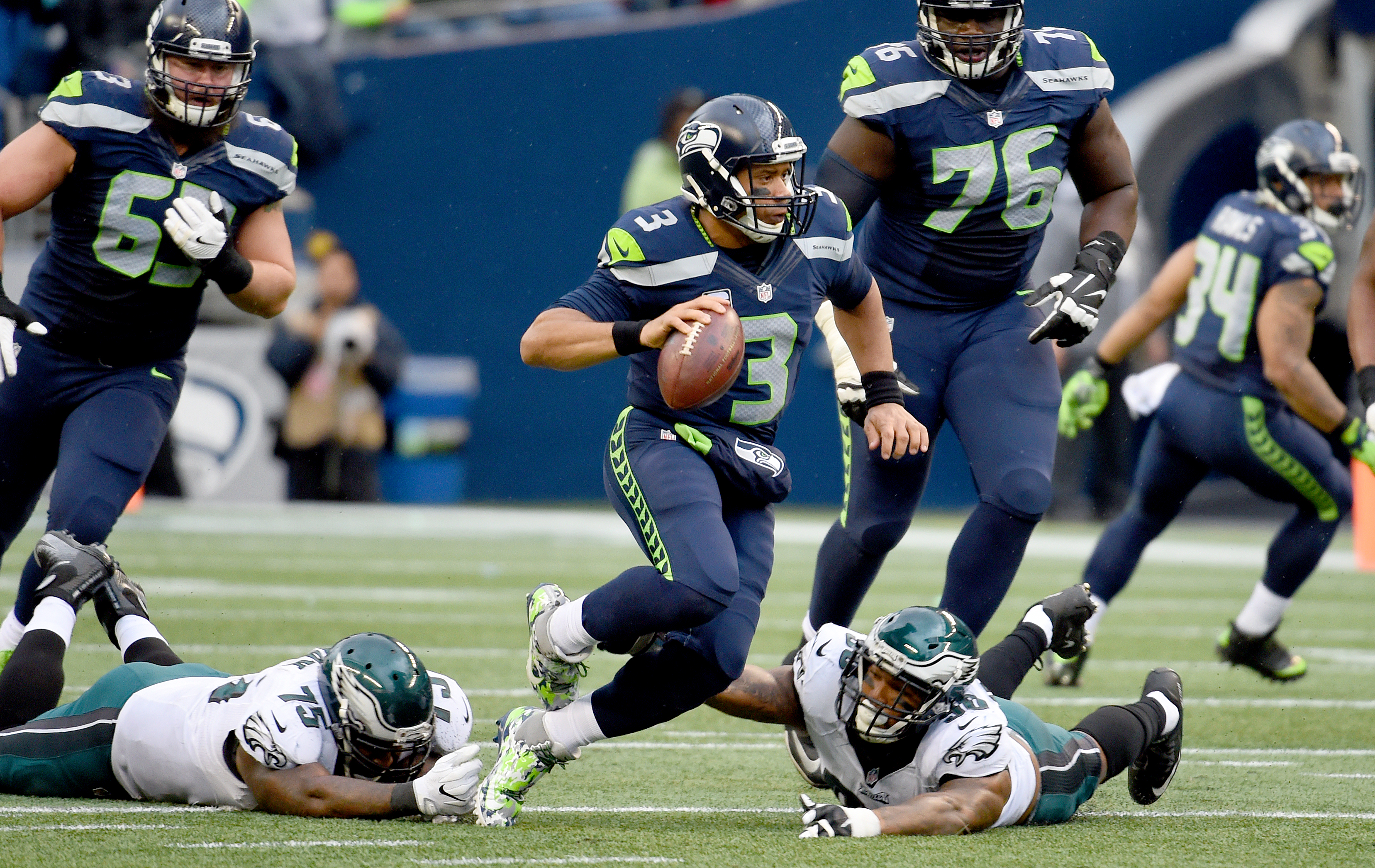 Russell Wilson and the Seahawks play at Tampa Bay Sunday.