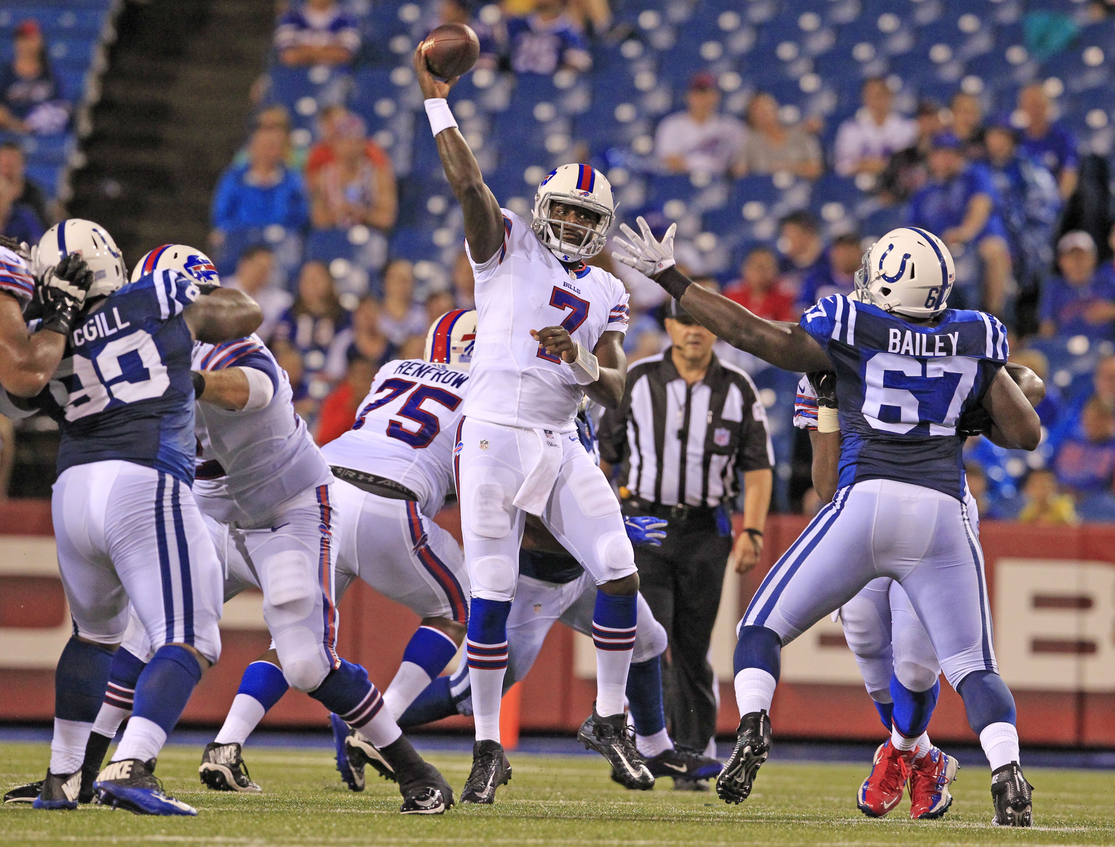 Buffalo Bills quarterback Cardale Jones has only seen playing time in the preseason to this point. (Harry Scull Jr./Buffalo News)