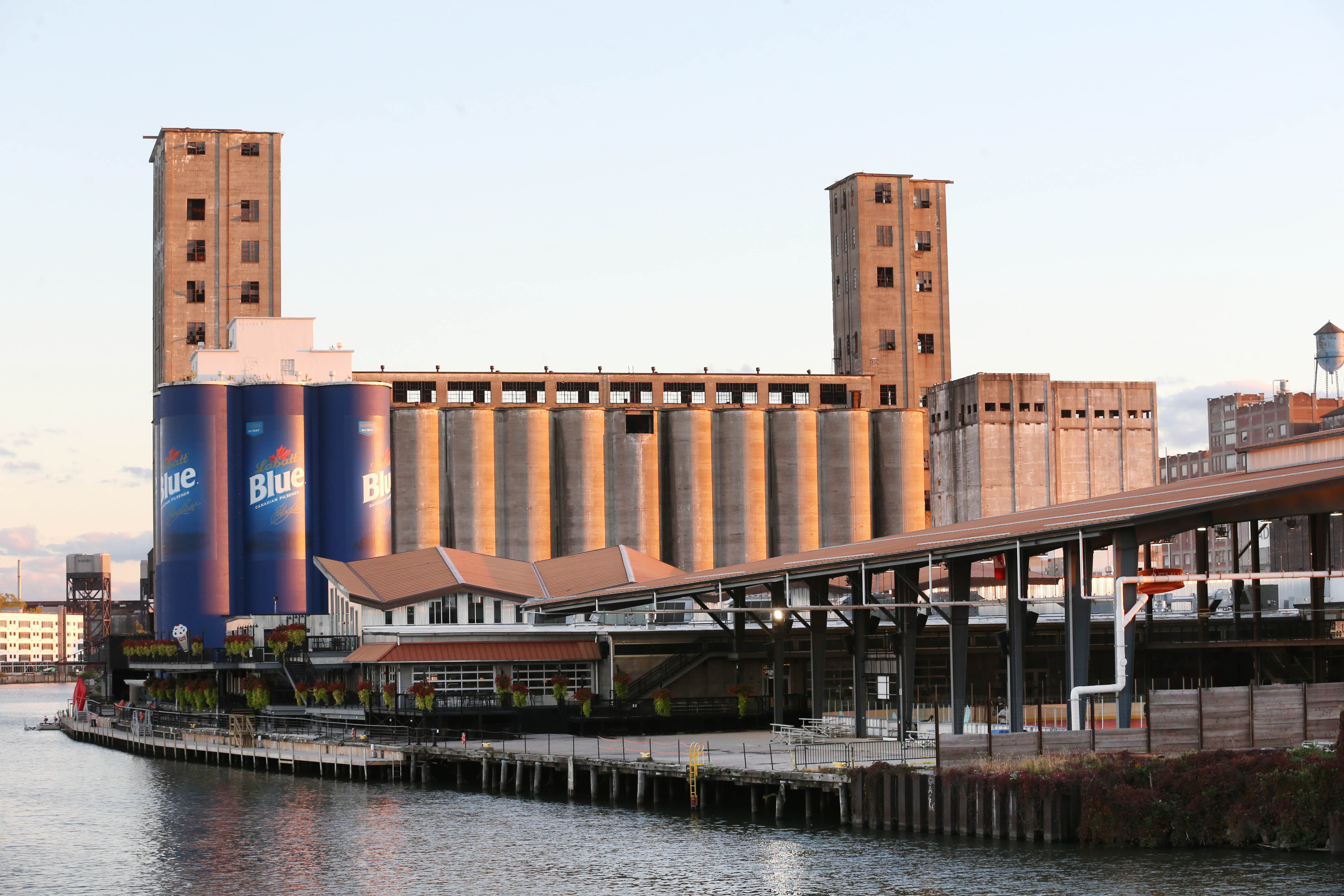 The owners of Riverworks plan to redesign a proposal for a 90-foot sign. (Sharon Cantillon/Buffalo News file photo)