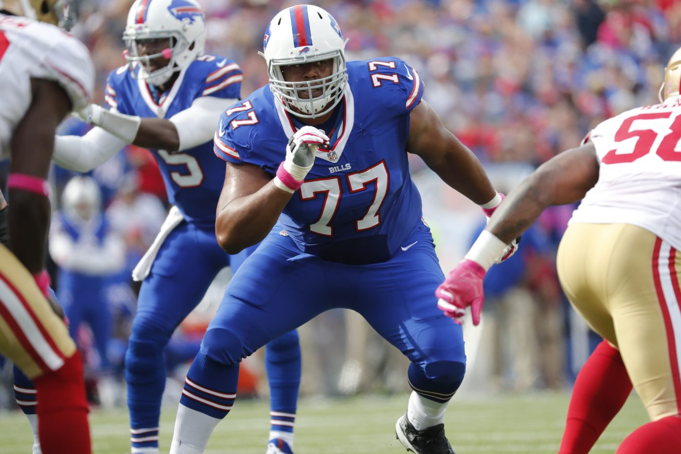 Buffalo Bills left tackle Cordy Glenn. (Harry Scull Jr./Buffalo News)