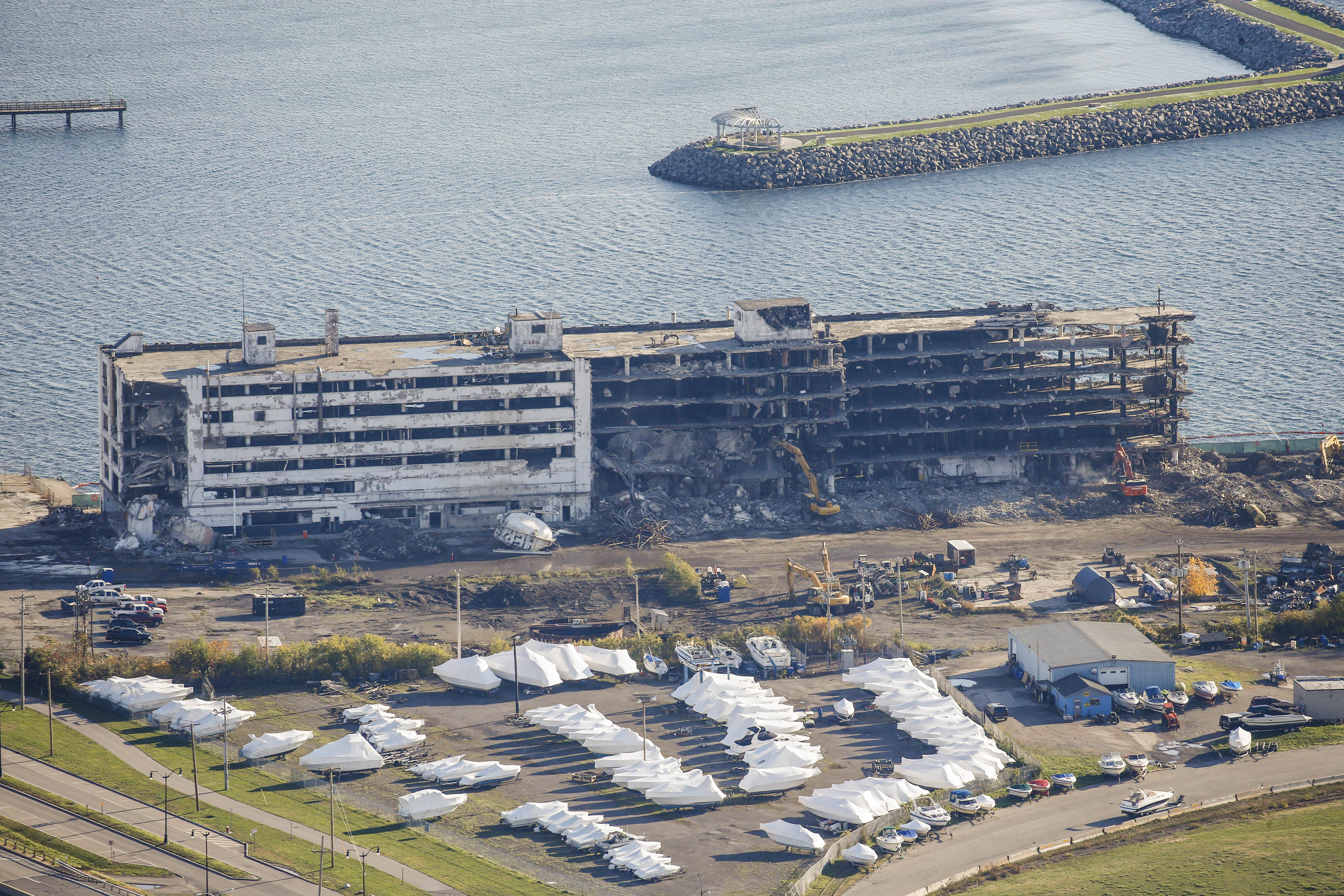 The former Freezer Queen building on the Outer Harbor shown in early November.  (Derek Gee/Buffalo News file photo)