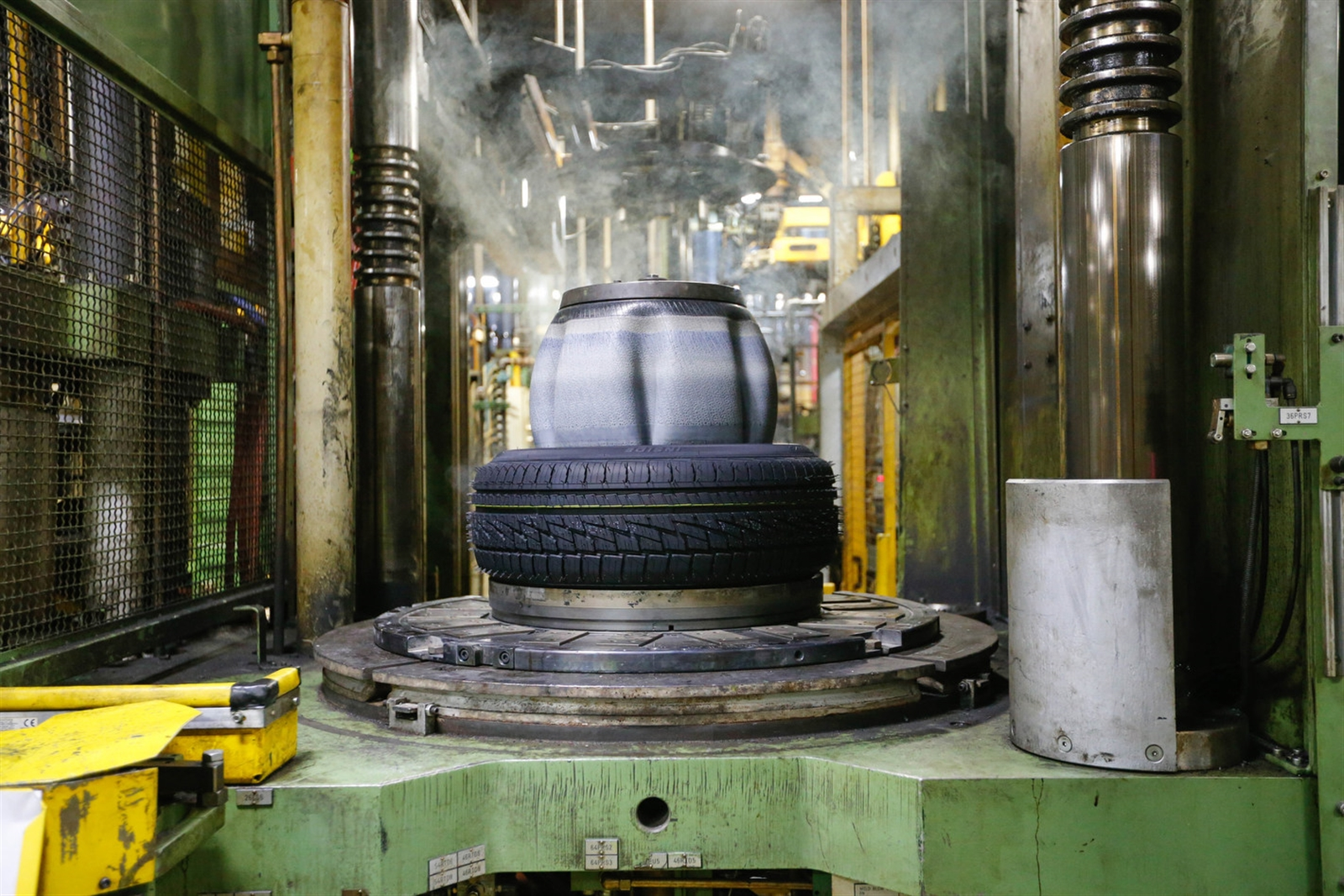 A new Falken tire is made at the Sumitomo Rubber USA tire manufacturing plant in the Town of Tonawanda.  (Derek Gee/ Buffalo News file photo)