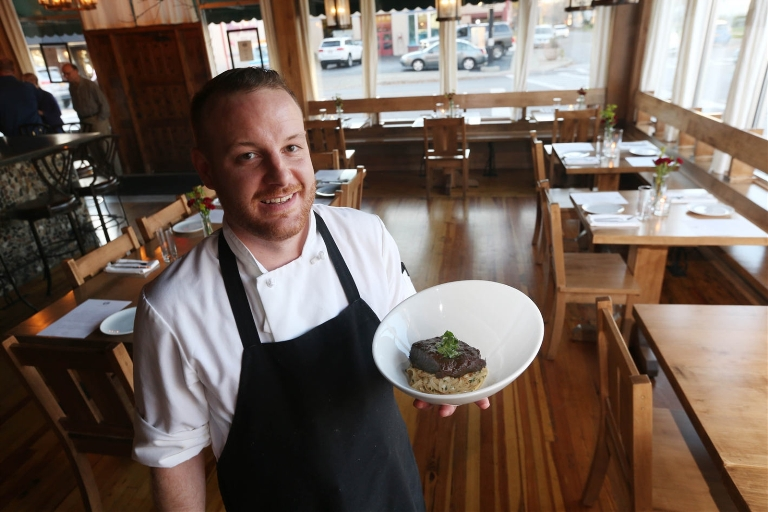 The new Hamburg restaurant Carte Blanche, owned by chef Andrew Murtha, will be open for Christmas Eve dinner.  (Sharon Cantillon/Buffalo News)