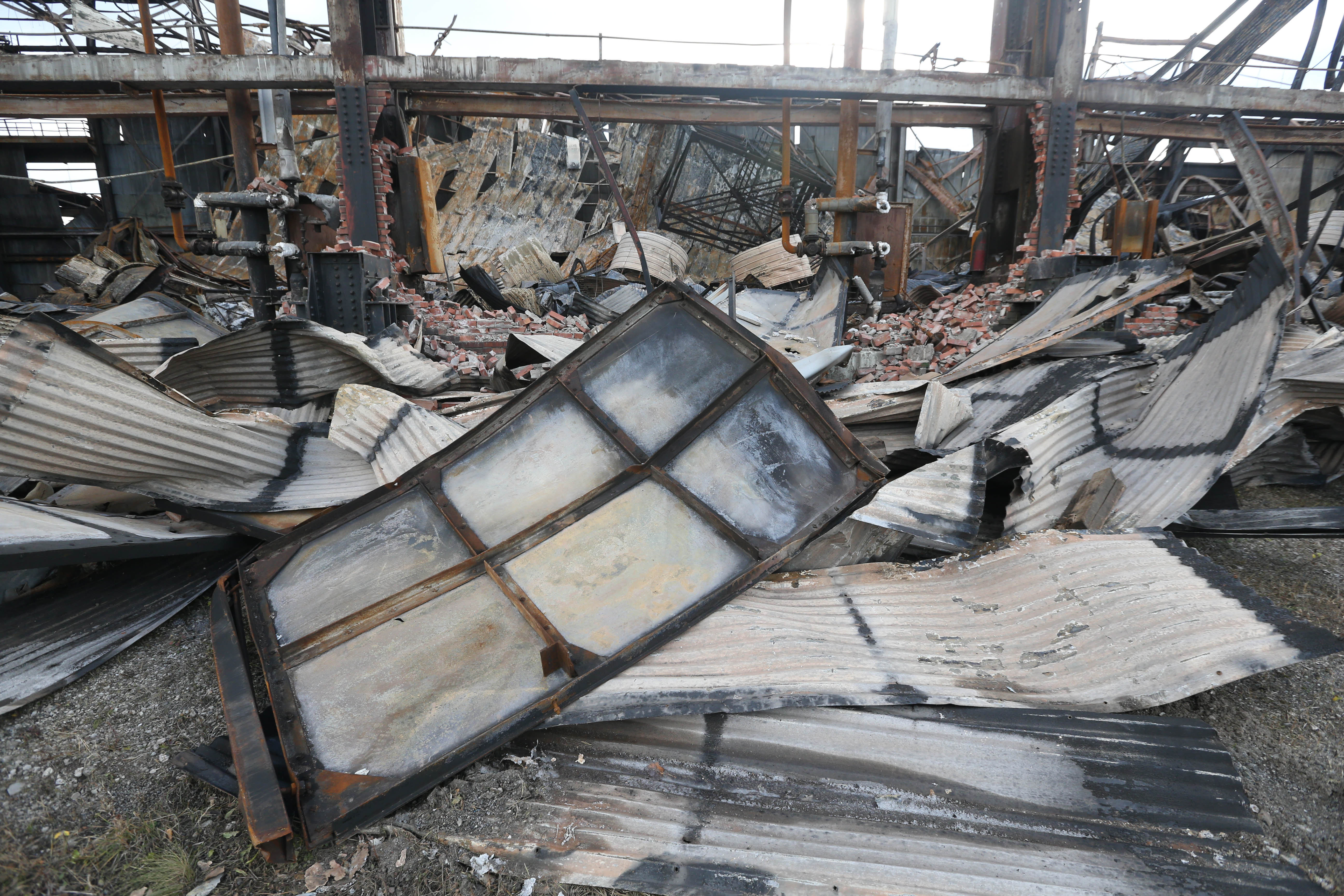 Local officials and the media had an opportunity to walk through the wreckage of the Bethlehem Steel buildings in Lackawanna Nov. 21, 2016. (Sharon Cantillon/Buffalo News file photo)