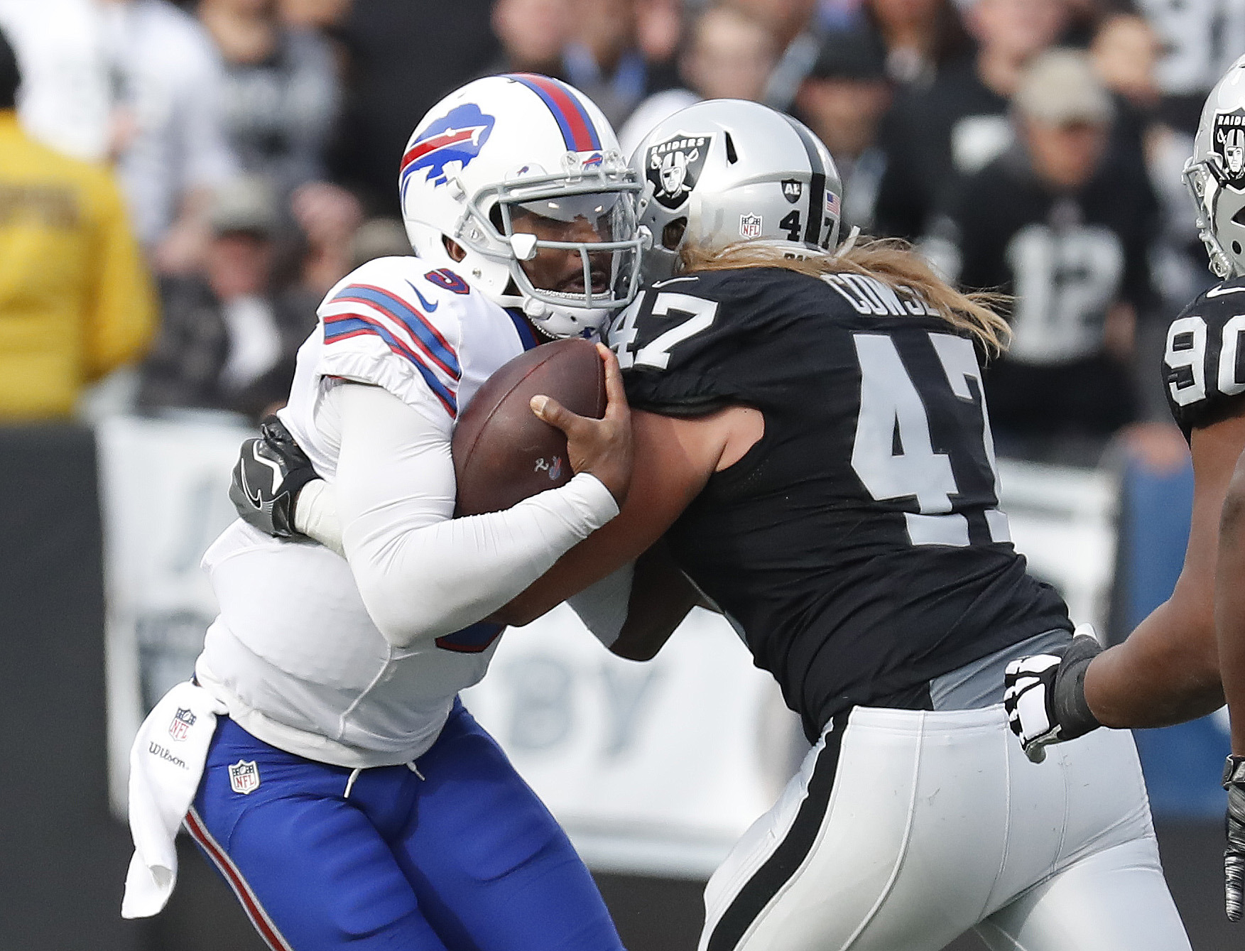 Bills quarterback Tyrod Taylor is under scrutiny after a poor showing Sunday in Oakland. (Harry Scull Jr./Buffalo News)