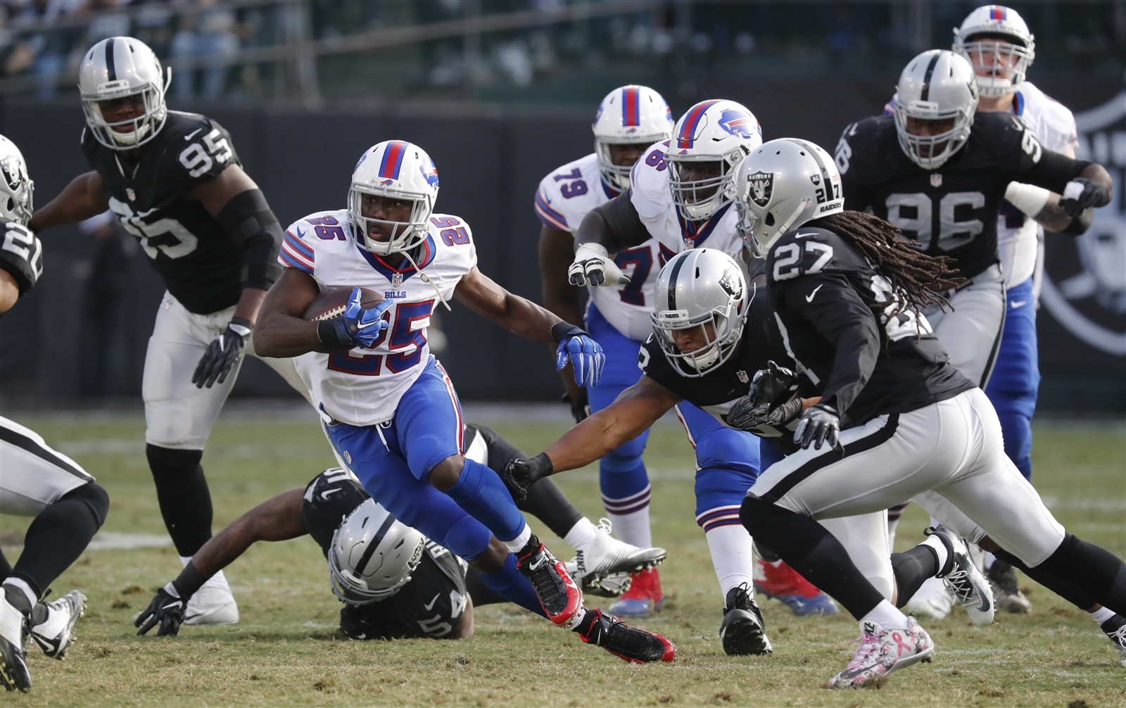 Bills running back LeSean McCoy is hopeful for a different outcome than what happened last December in Oakland. (Harry Scull Jr./Buffalo News)