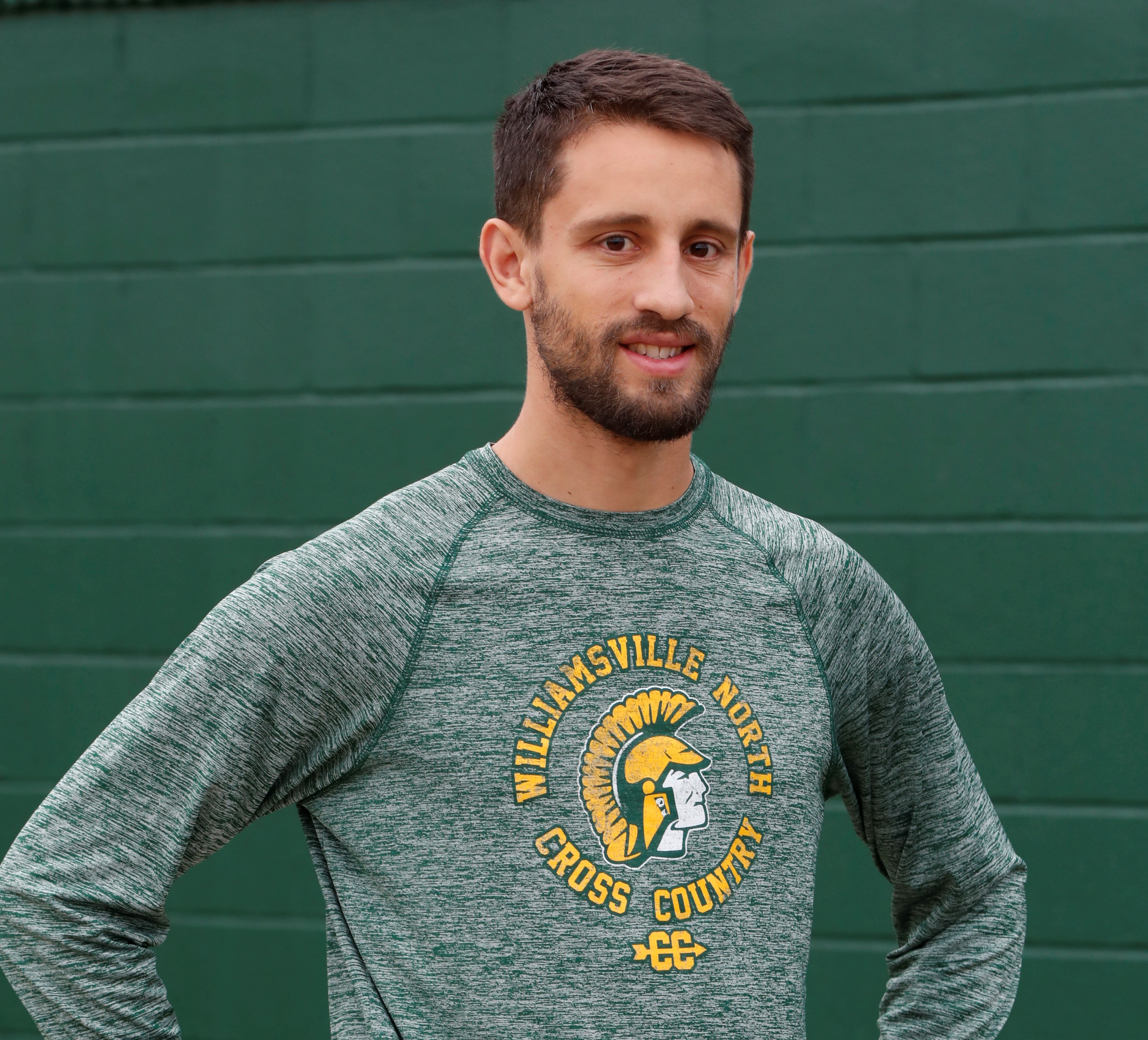 Pete Gratien, the cross country coach at Williamsville North, is 2016's top male runner. (Harry Scull Jr./Buffalo News)
