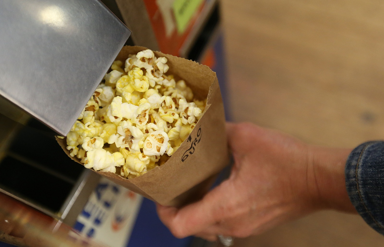 One of the highlights for Vidler's customers is the popcorn machine where one can purchase a small bag for a dime. (Sharon Cantillon/Buffalo News)