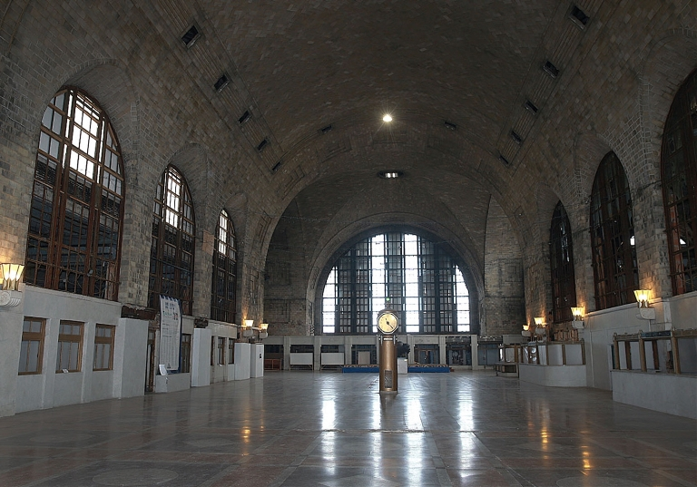 Developer Harry Stinson envisoins the Central Terminal as a transportation hub. The last Amtrak station used the terminal in 1979. (John Hickey/Buffalo News)
