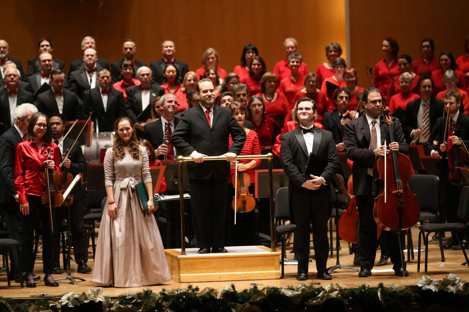 The Buffalo Philharmonic Orchestra on Friday performed the first of its two Christmas concerts along with the Buffalo Philharmonic Chorus, (Sharon Cantillon/Buffalo News)