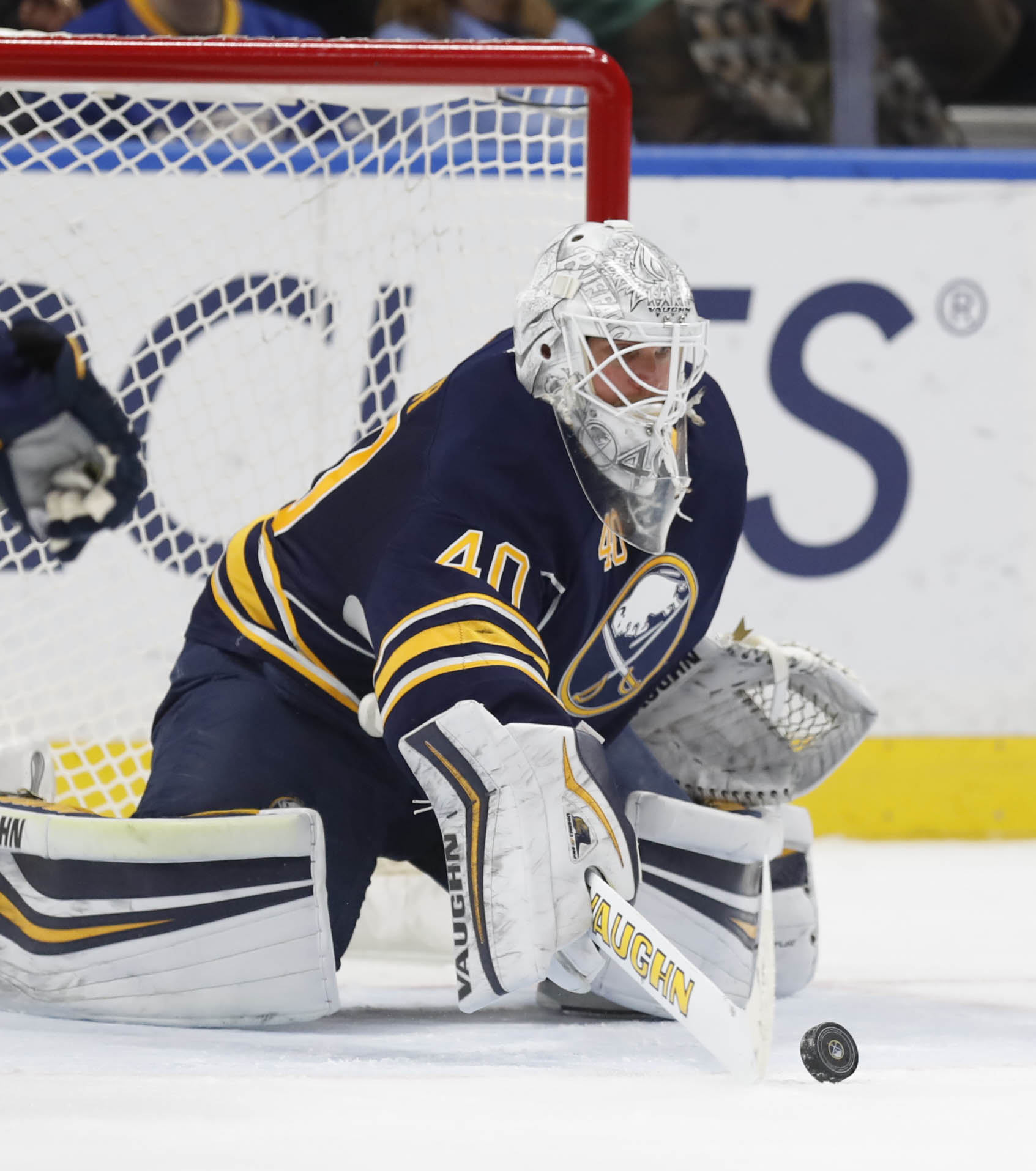 Robin Lehner made 30 saves to get his second home win of the season (Harry Scull Jr./Buffalo News).