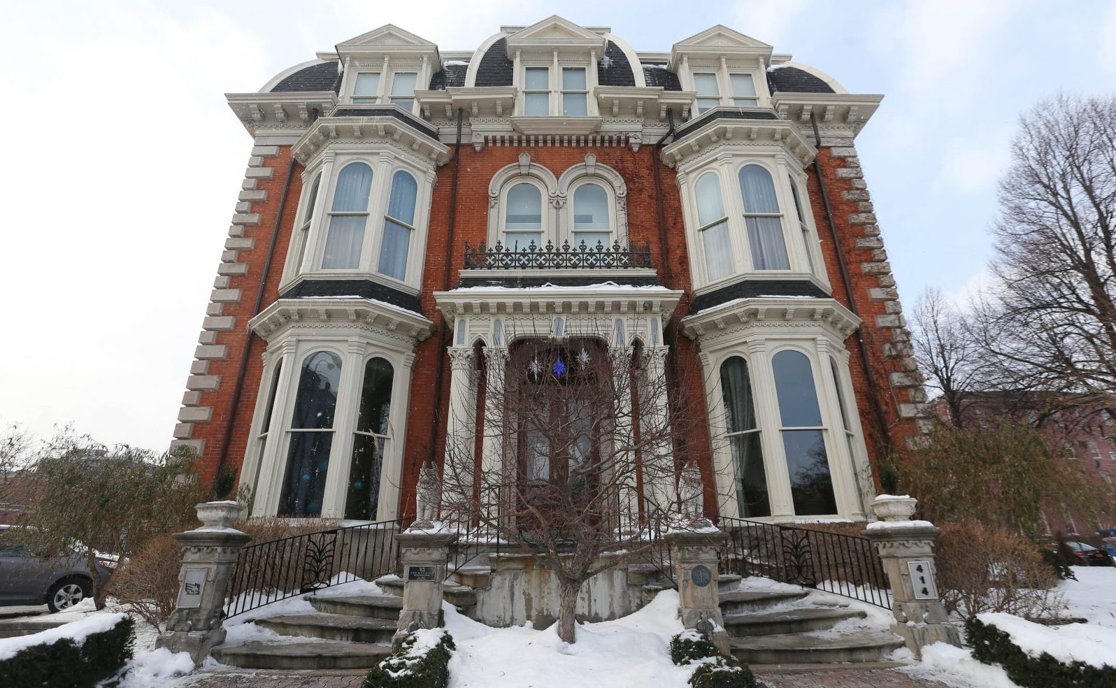 The Mansion on Delaware Avenue is a 28-room luxery hotel.  It opened in 2001 after $2.7 million in renovations to the 1870 building.  (Sharon Cantillon/Buffalo News)