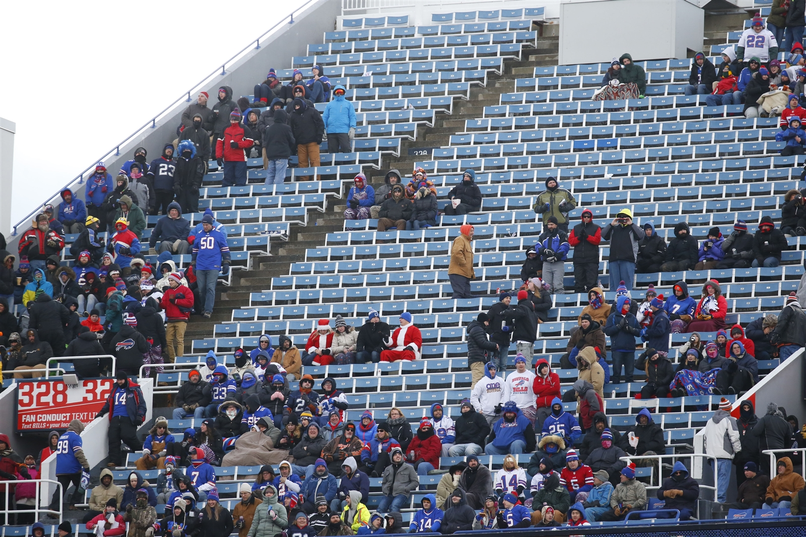 There were many empty seats for Sunday's Bills-Browns game. (Harry Scull Jr./Buffalo News)