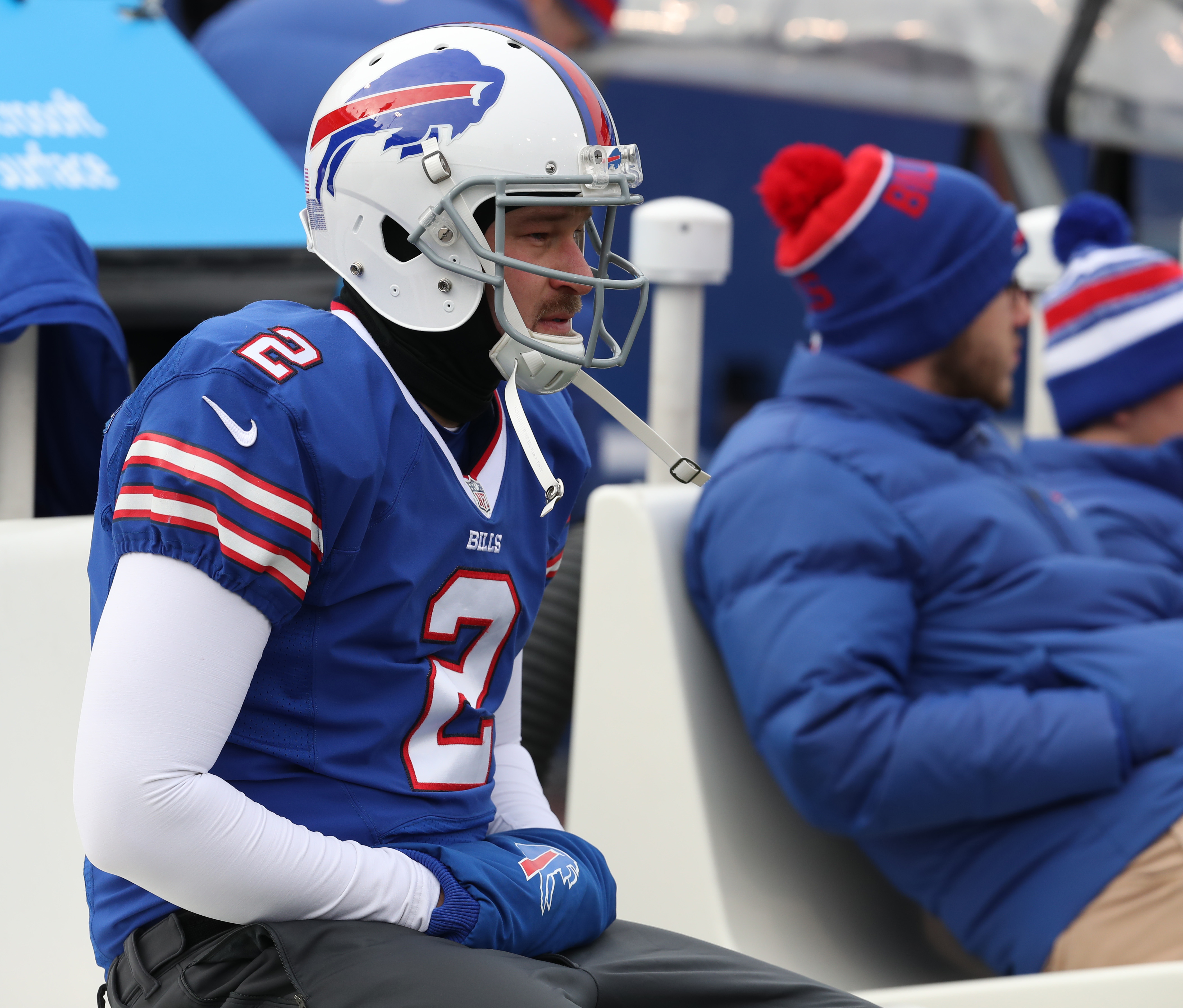 Bills kicker Dan Carpenter missed his fourth extra point of the season Sunday against the Browns. (James P. McCoy/Buffalo News)