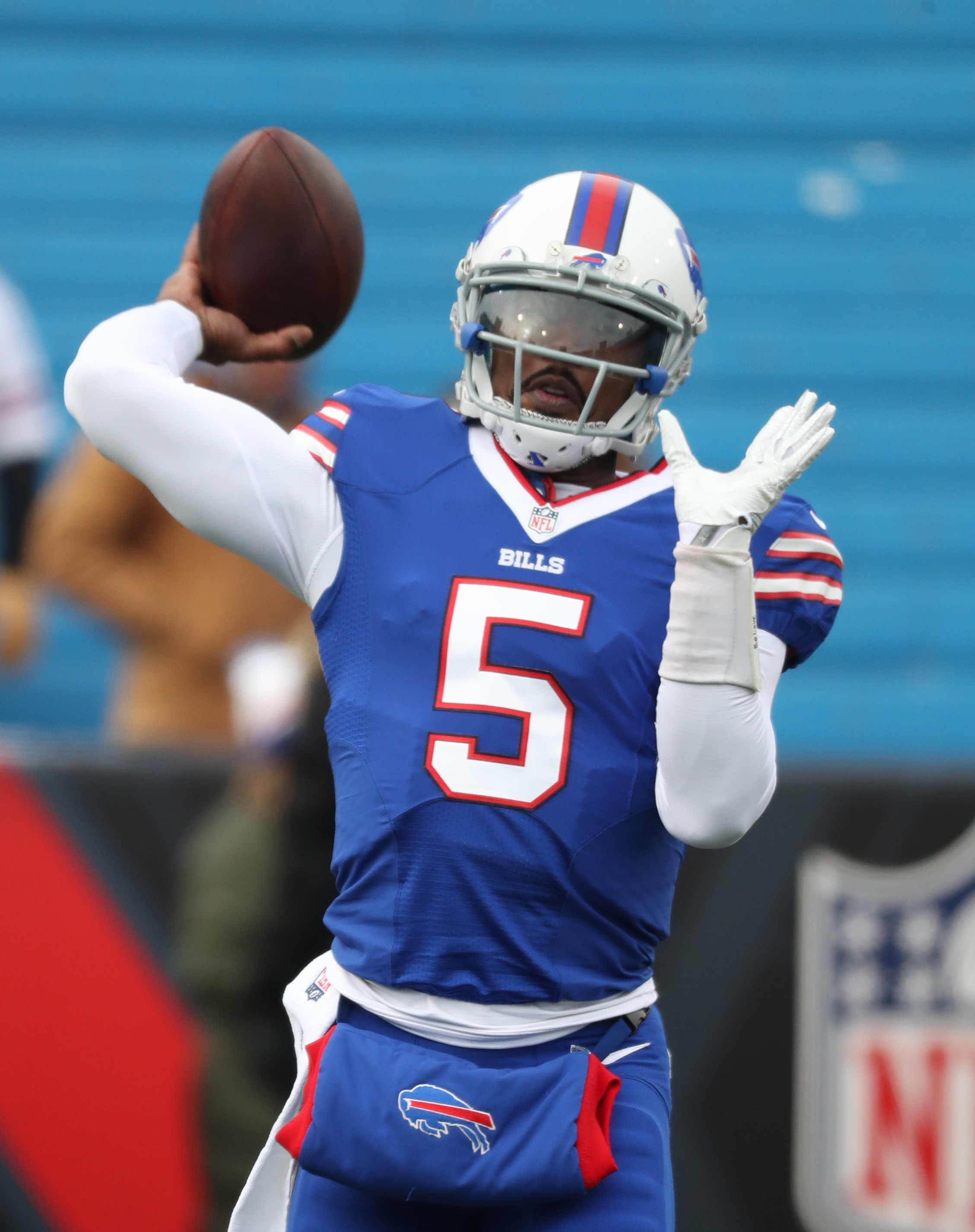 Tyrod Taylor's long-term status with the Bills remains in question. (James P. McCoy/Buffalo News)