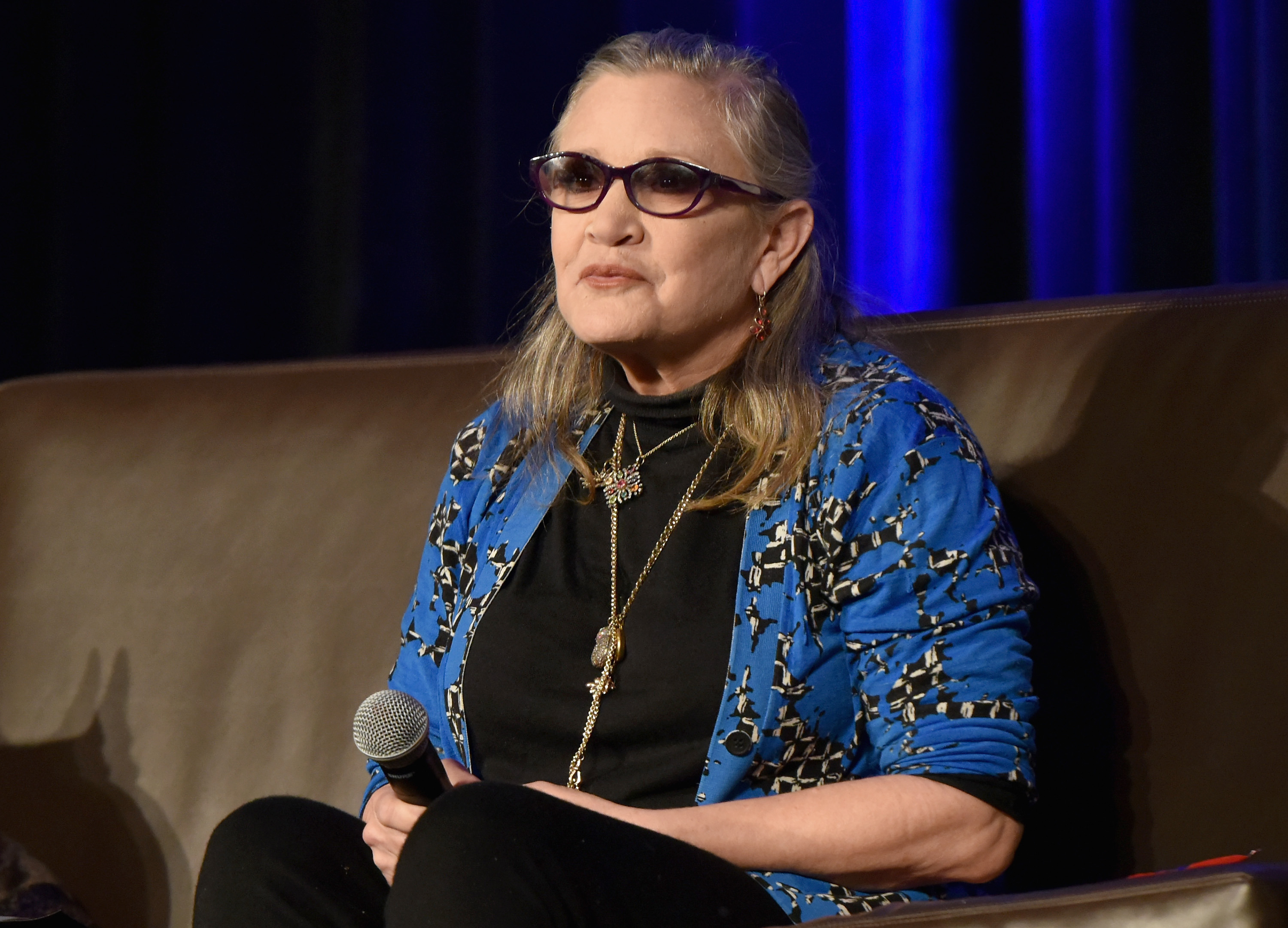 Actress Carrie Fisher died Tuesday after suffering a heart attack while on a flight from London to Los Angeles. (Getty Images)