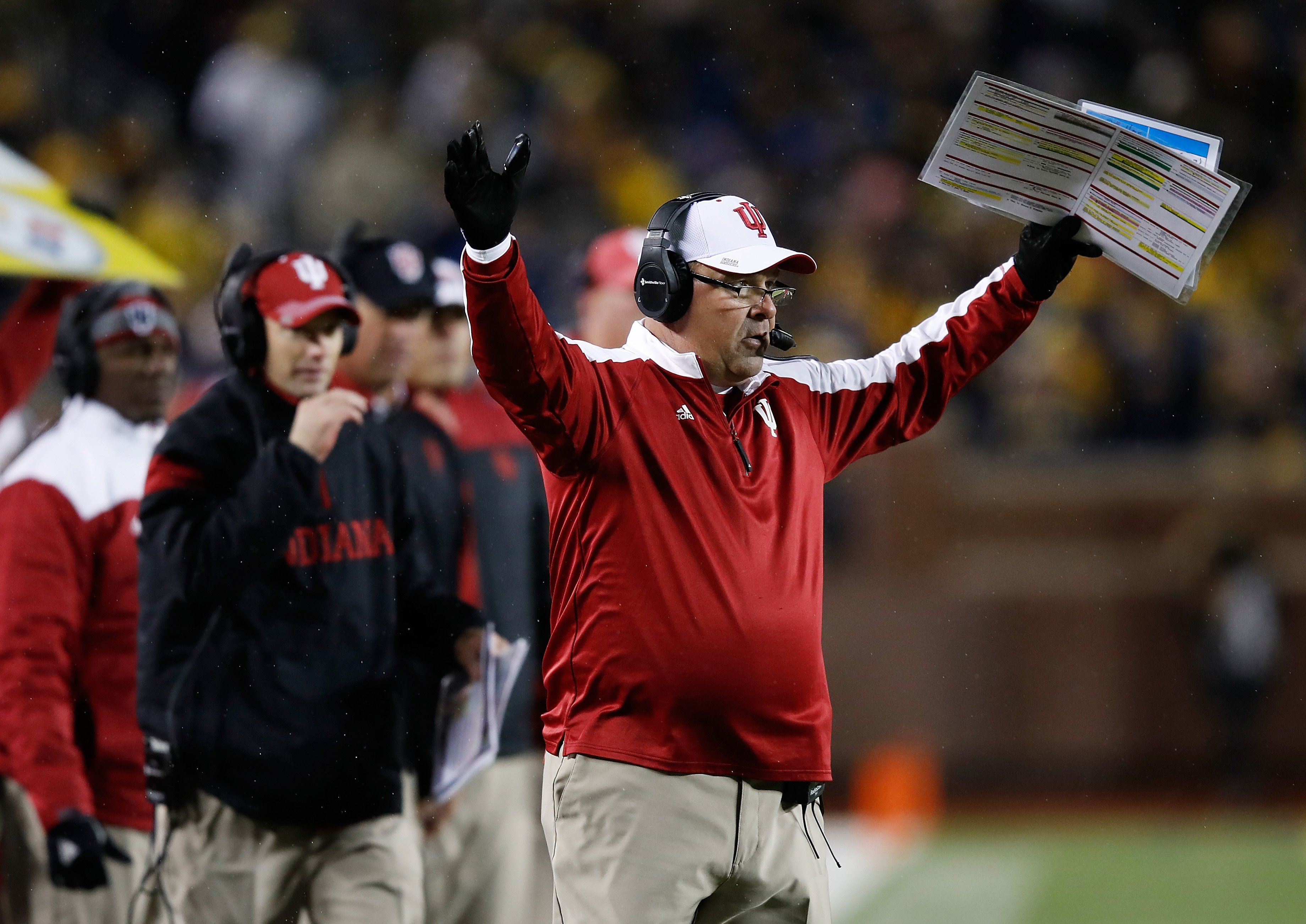 Kevin Wilson is no longer the coach at Indiana after reports surfaced he belittled players who were injured. (Getty Images)