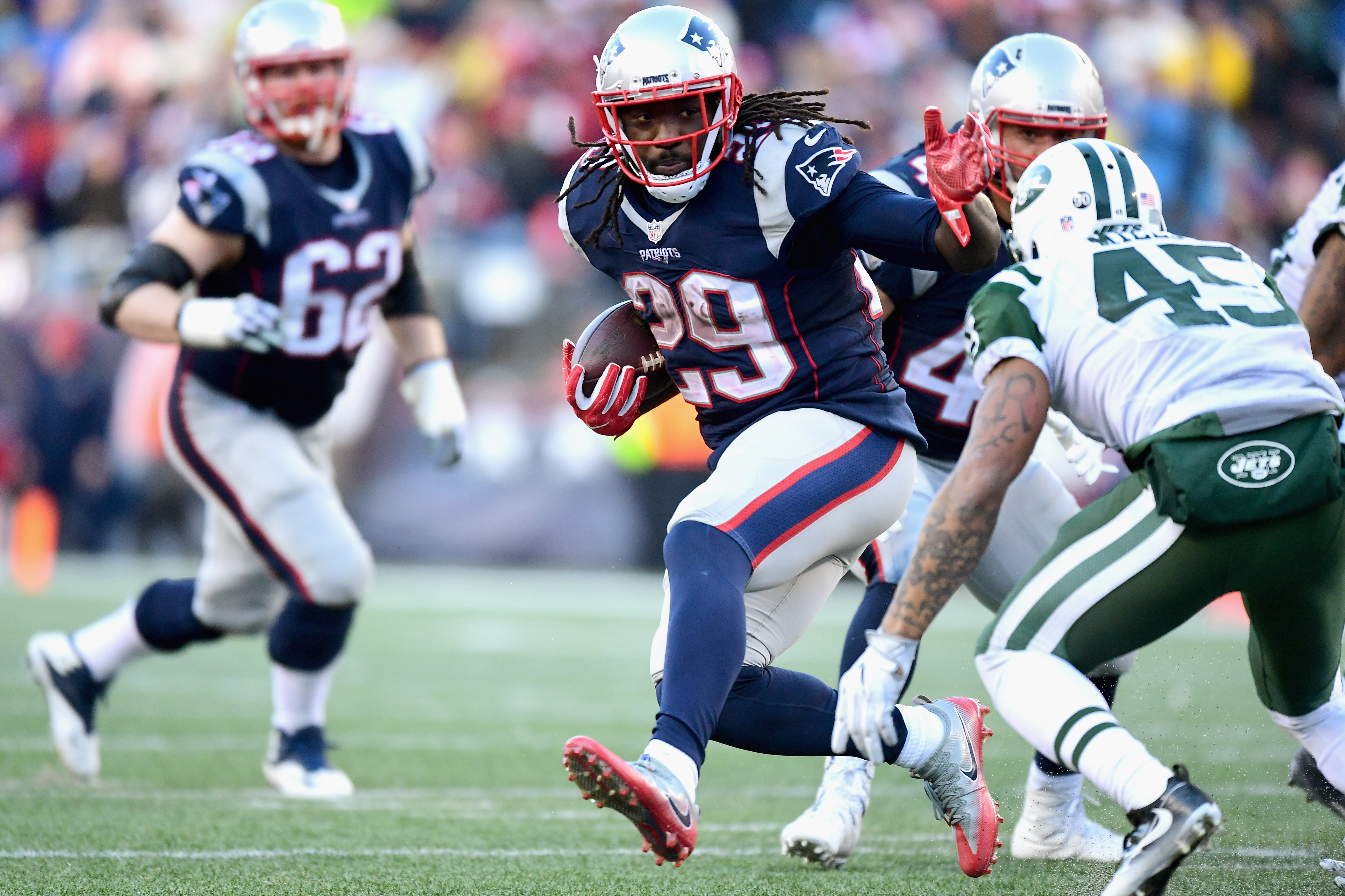 LeGarrette Blount and the Patriots will be tough to stop in the postseason. (Getty Images)