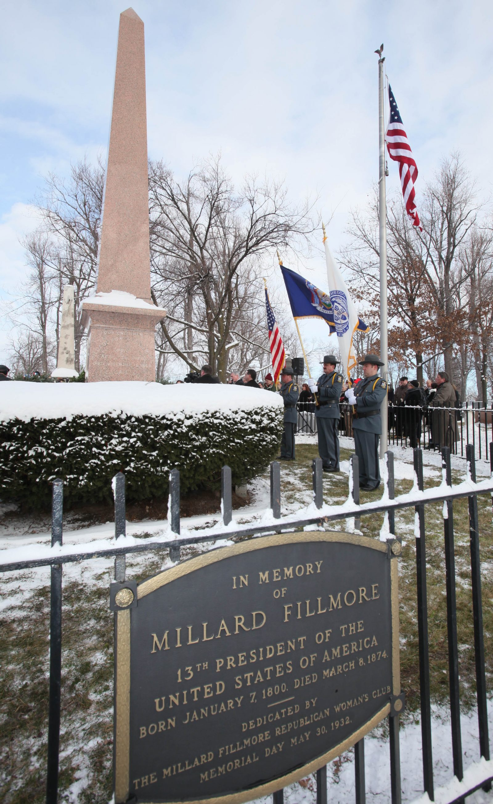 Millard Fillmore's gravesite at Forest Lawn Cemetery in Buffalo. (Robert Kirkham/News file photo)