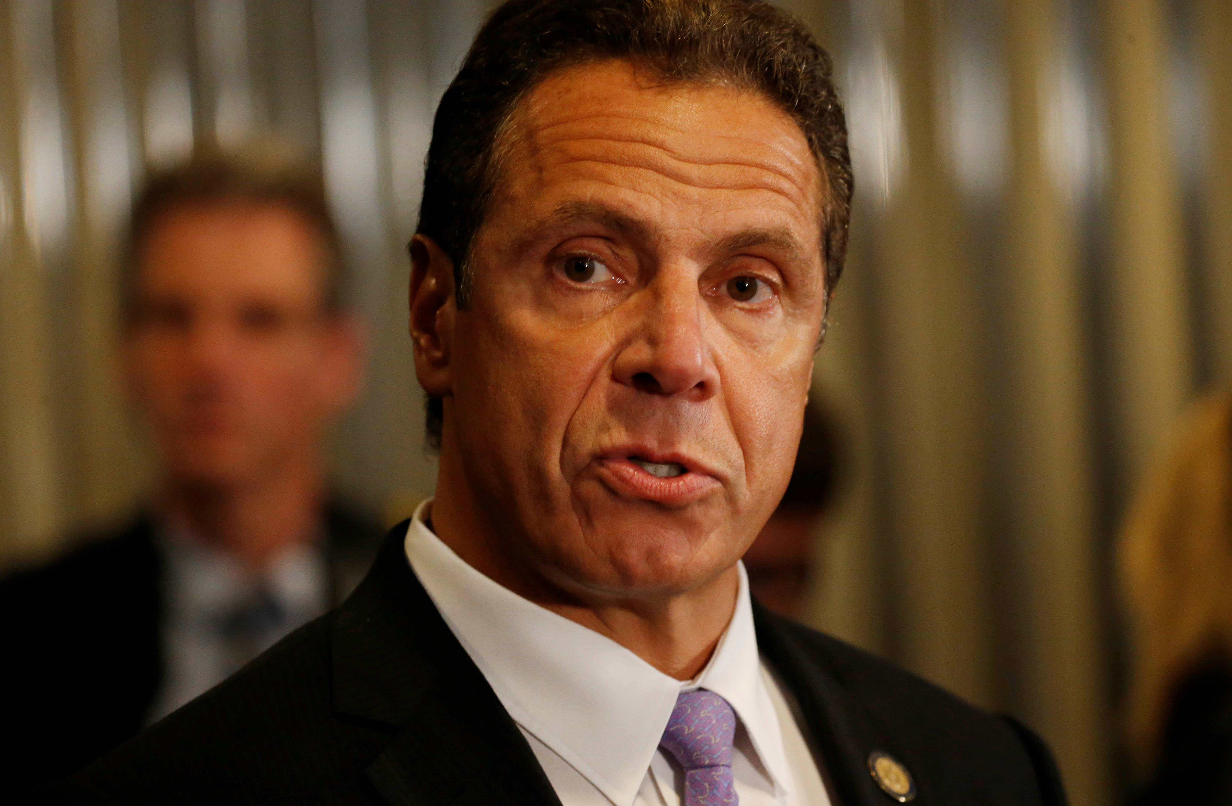Gov. Cuomo said he's not in a rush to pass the budget after an emergency extender was passed to keep government functioning through May 31. (Derek Gee/Buffalo News)
