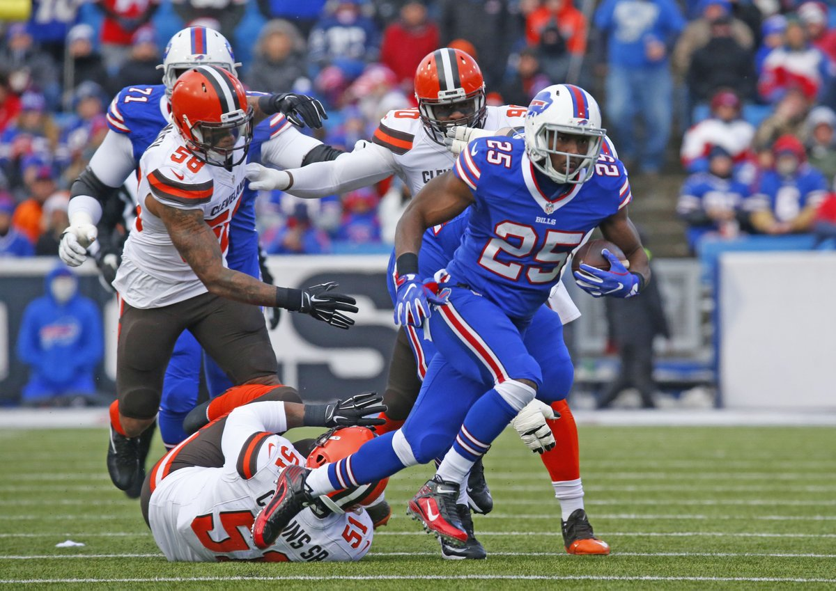 LeSean McCoy runs during the first quarter against the Cleveland Browns last season. (Harry Scull Jr./Buffalo News)
