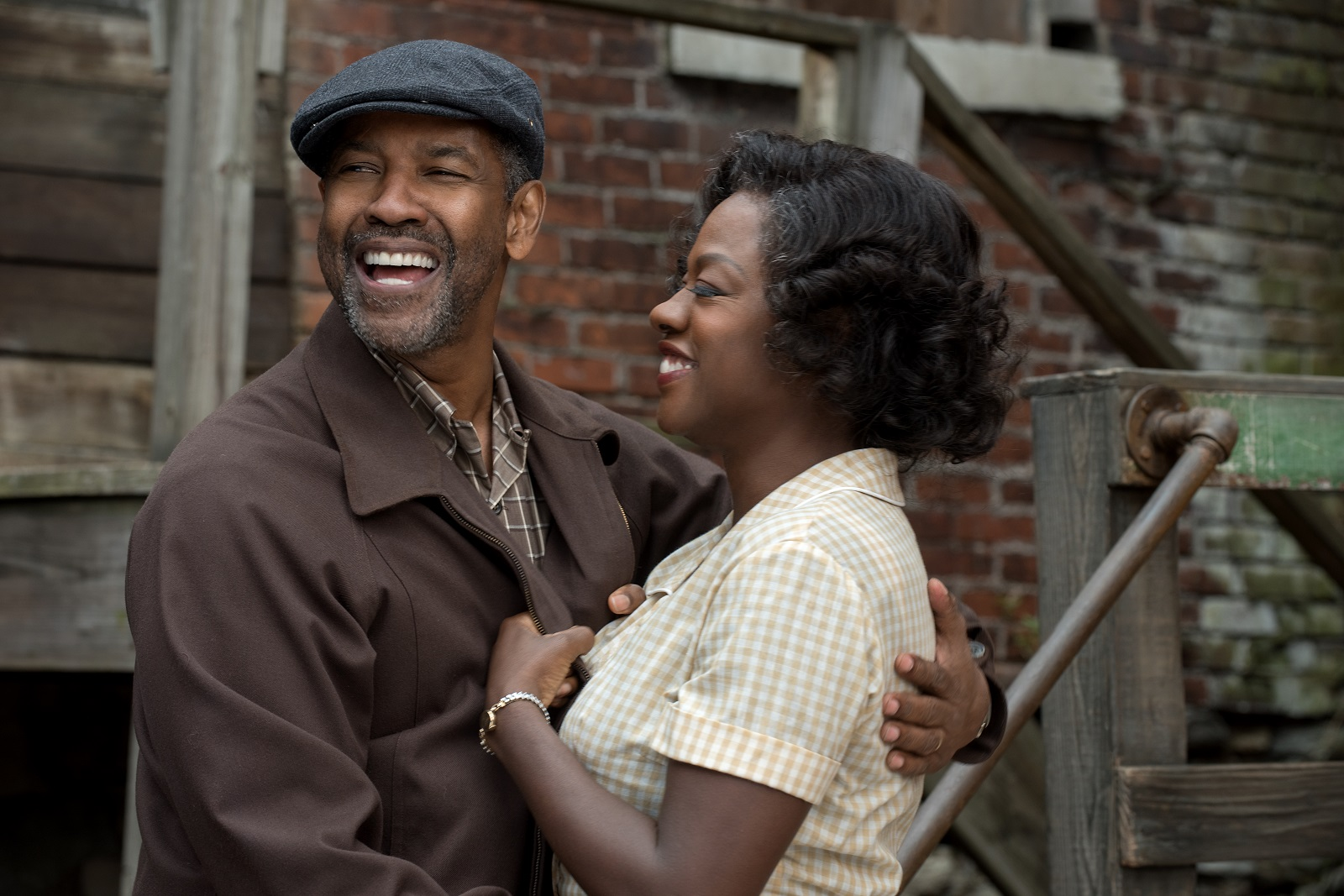 Denzel Washington plays Troy Maxson and Viola Davis plays Rose Maxson in 'Fences.'