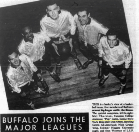 'Buffalo joins the major leagues' was the headline on this Buffalo Courier-Express pictoral.