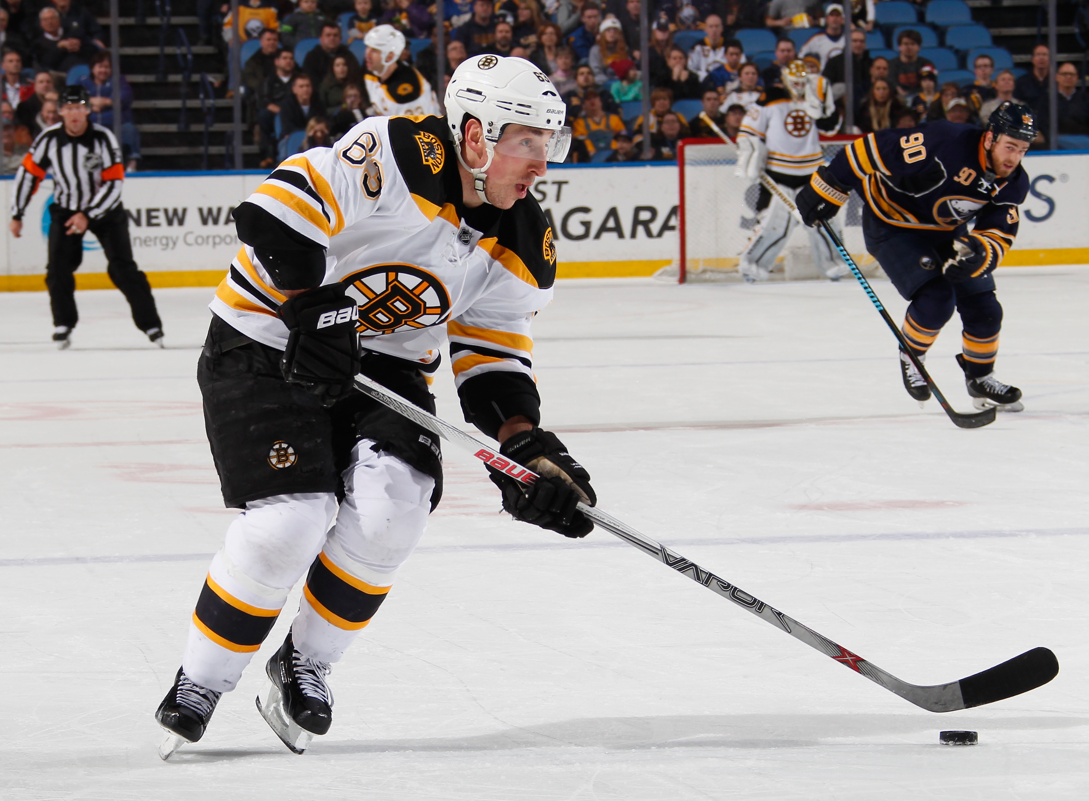 Brad Marchand has tormented the Sabres throughout his career. (Getty Images)