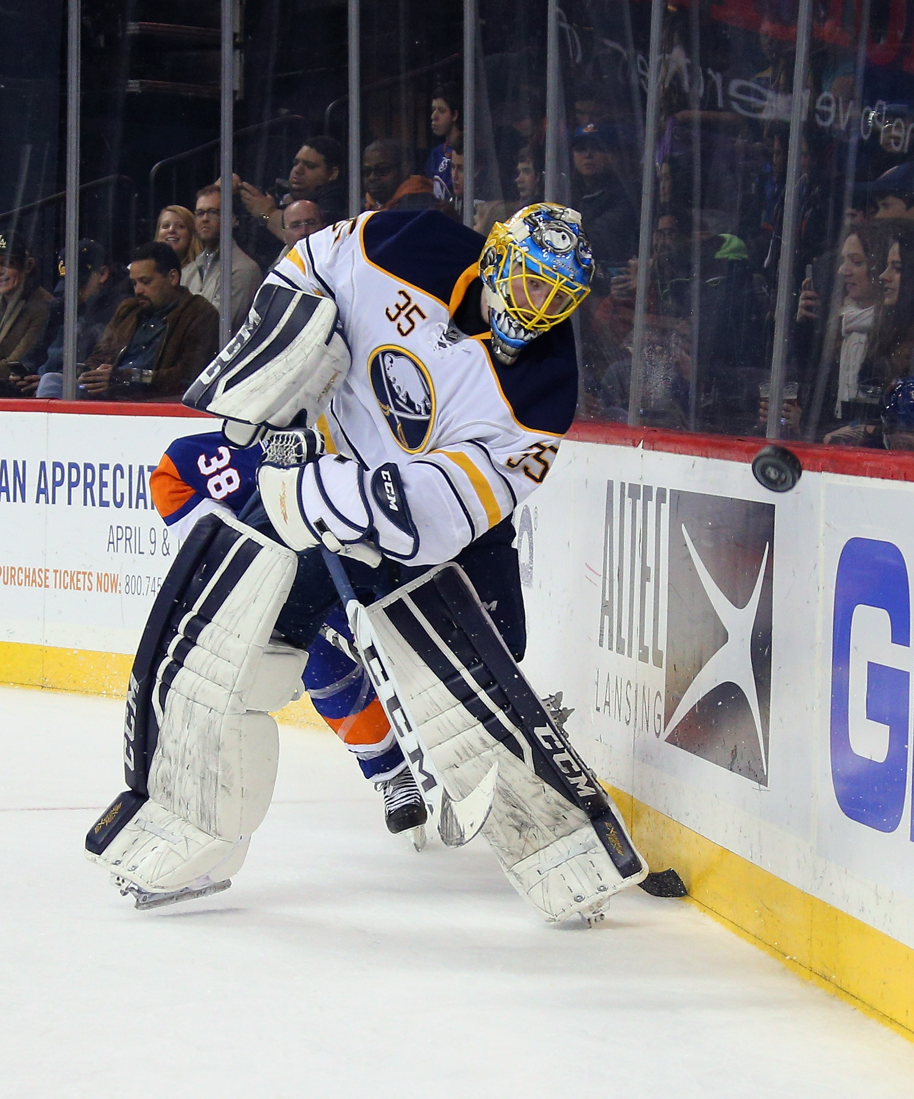 Linus Ullmark, who played in the season finale last year, will be the backup Thursday. (Getty Images)