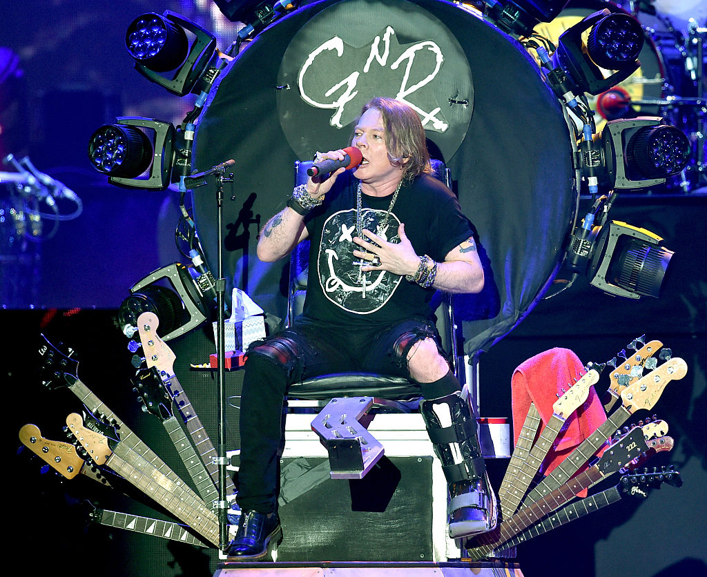Singer Axl Rose of Guns N' Roses performs onstage during day 2 of the 2016 Coachella Valley Music & Arts Festival Weekend 1 at the Empire Polo Club on April 16, 2016 in Indio, California.  (Photo by Kevin Winter/Getty Images for Coachella)