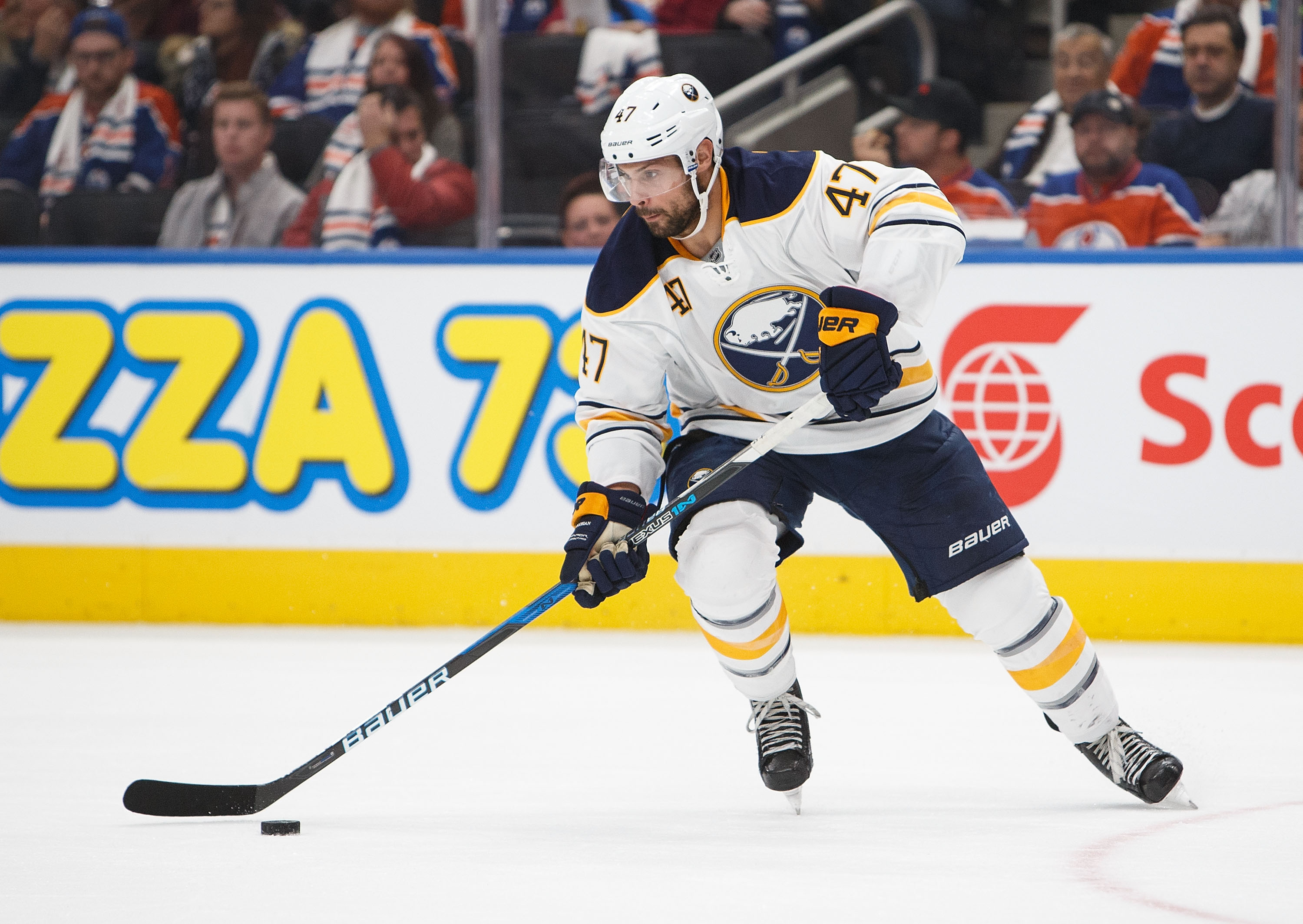 Sabres defenseman Zach Bogosian will play for the first time since Nov. 1. (Getty Images)