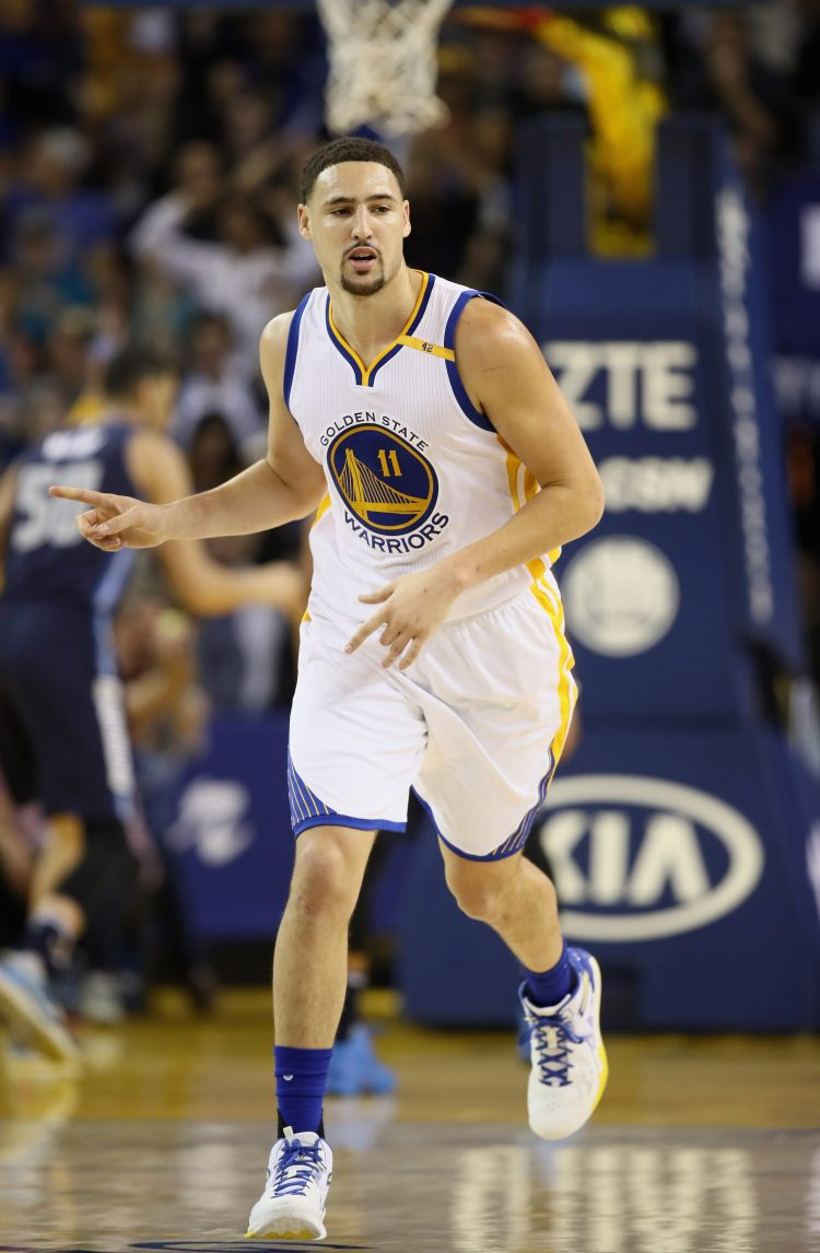 Klay Thompson put on a show for the ages by scoring 60 points in 29 minutes. (Getty Images)