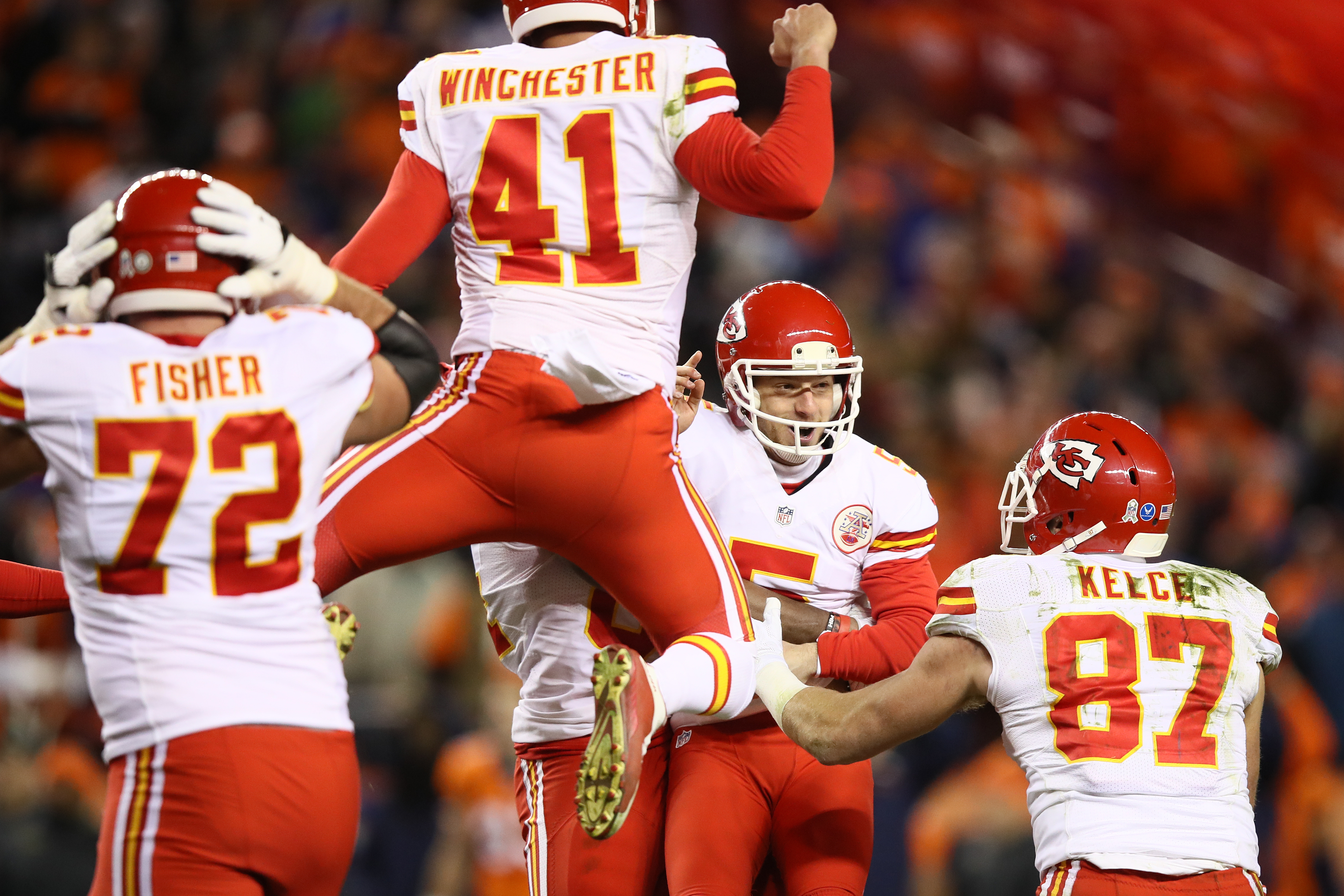 The high-flying Kansas City Chiefs take on the explosive Atlanta Falcons on Sunday. (Getty Images)