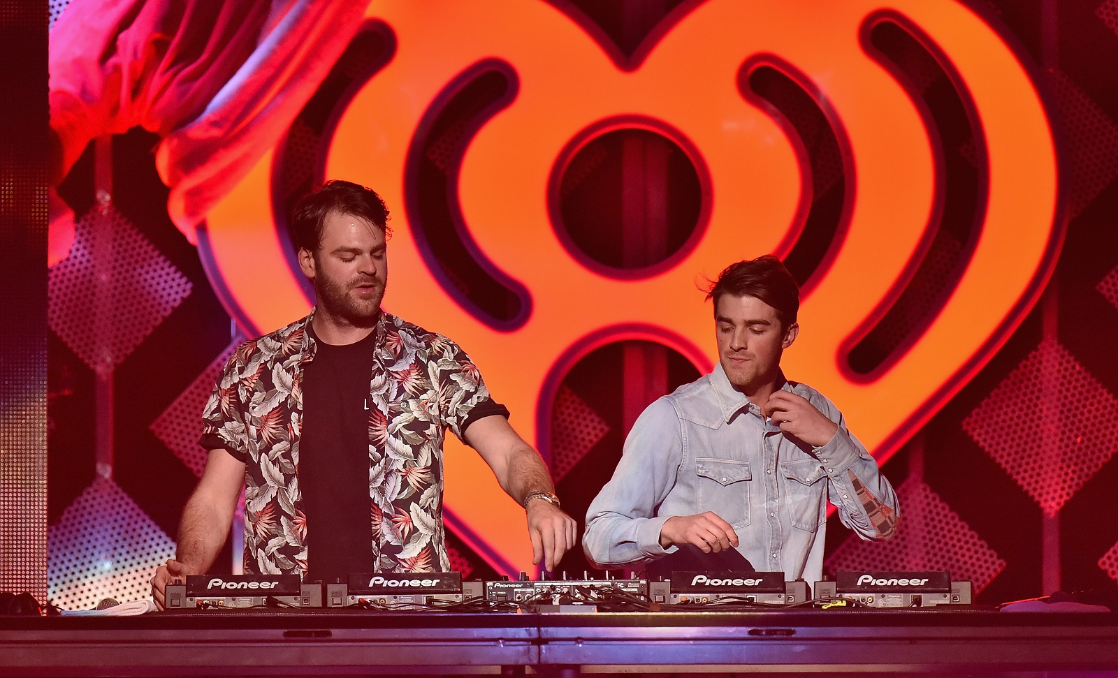 Alex Pall, left, and Andrew Taggart of The Chainsmokers will headline Kissmas Bash on Dec. 15. (Getty Images)