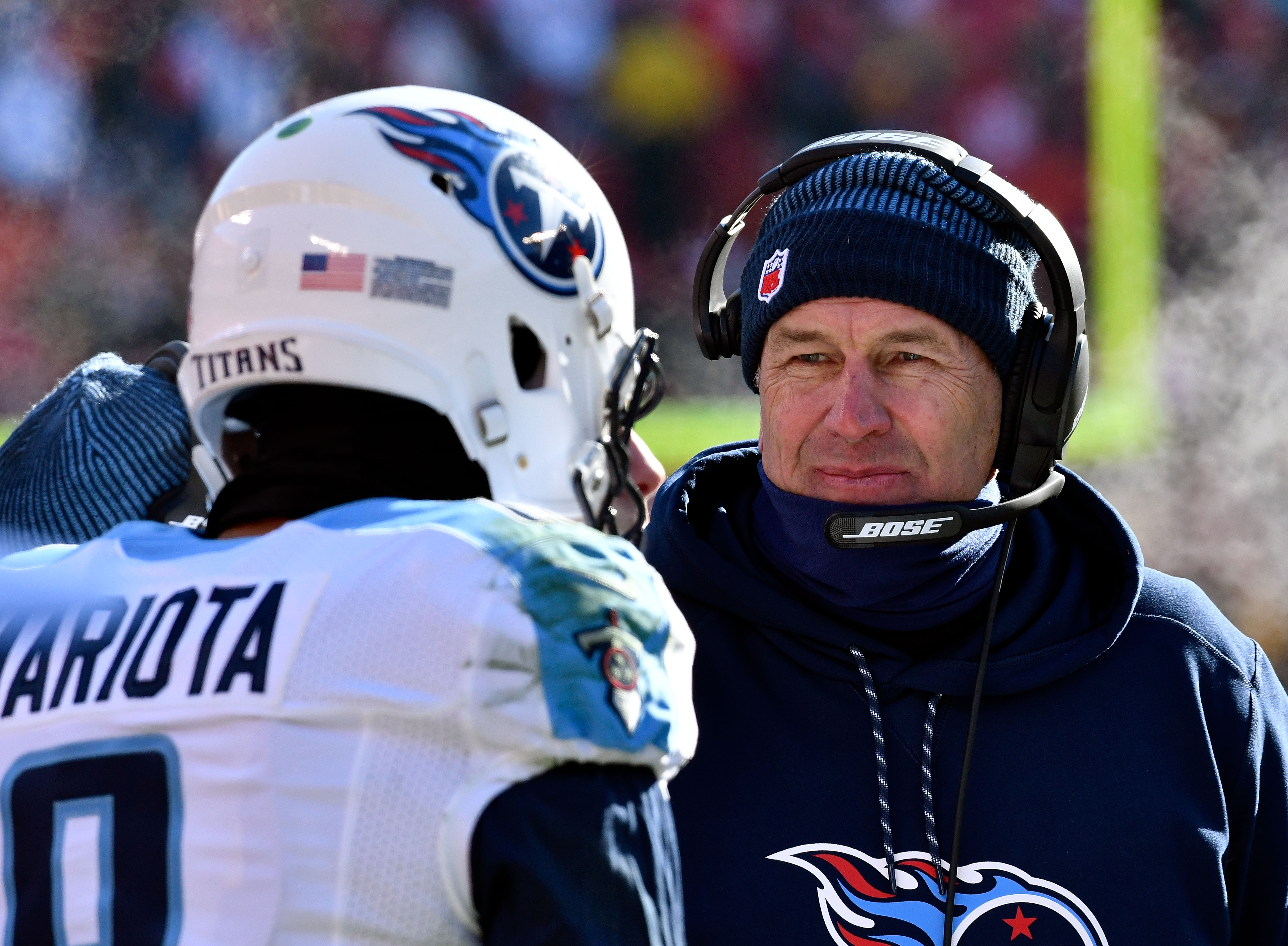 Head coach Mike Mularkey and quarterback Marcus Mariota have Tennessee in the top 10. (Getty Images)
