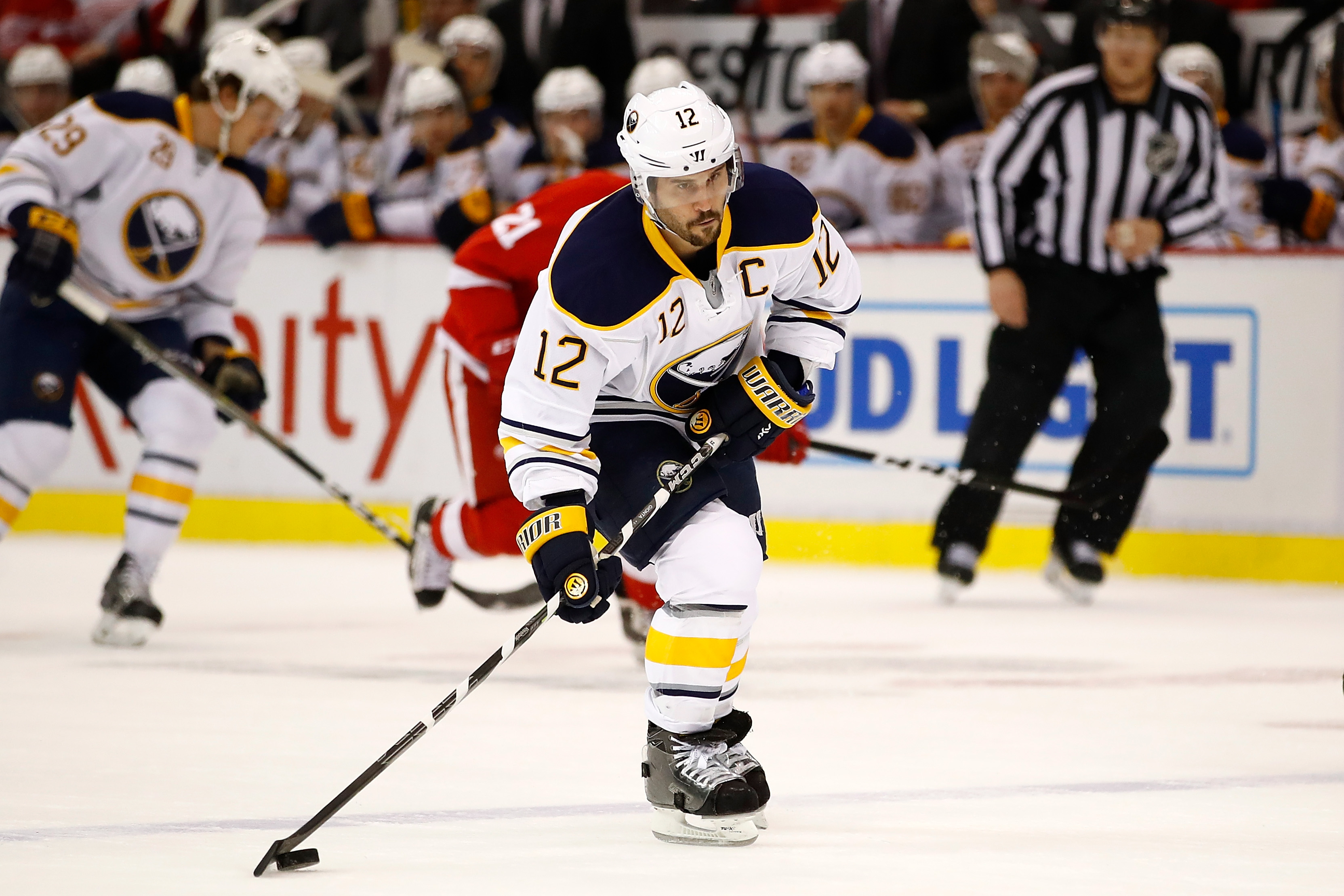Brian Gionta and the Sabres haven't had a three-game winning streak since Nov. 1. (Getty Images)