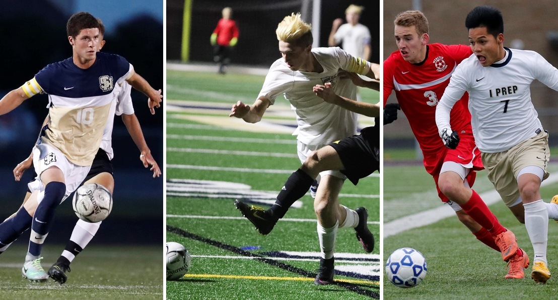 Section VI soccer stars, from left, Noah Keem, Garrett Robinson and Pa Lu should all be on FC Buffalo's radar before tryouts on Dec. 23 and Jan. 6. (Buffalo News file photos)