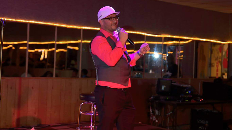 Comedian Louie Gee hosts and produces the regular Dirty Dozen showcase at Helium (Courtesy of Louie Gee).