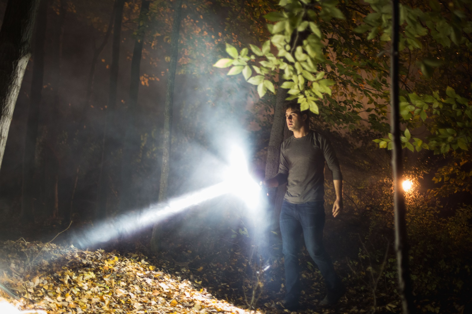 In this scene from 'Mercy,' actor James Wolk is pictured at Knox Farm State Park. (Stefan Ludwig Photography)
