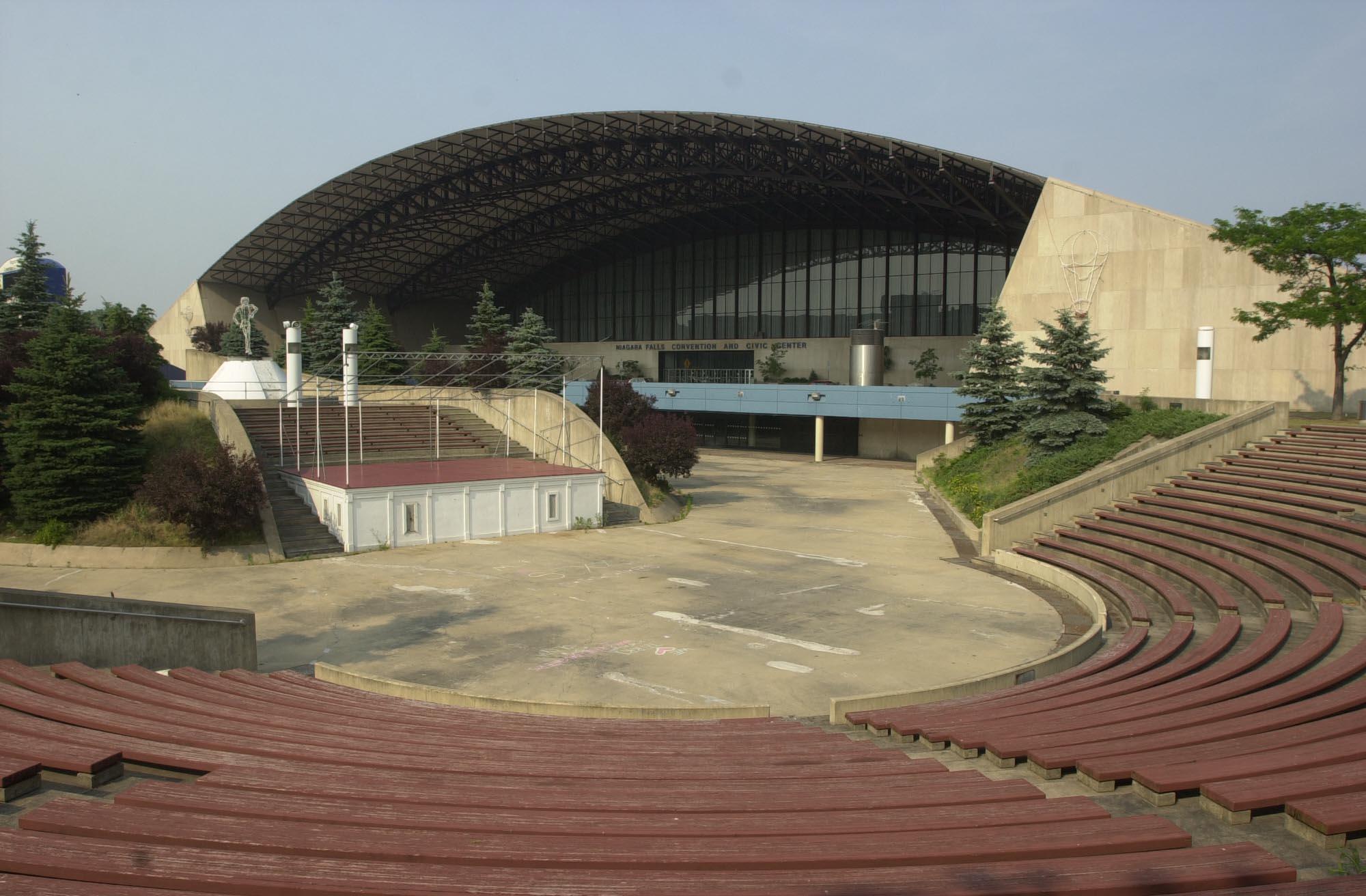 The former Niagara Falls Convention Center, from a file photo taken July 1, 2002. (John Hickey / The Buffalo News)