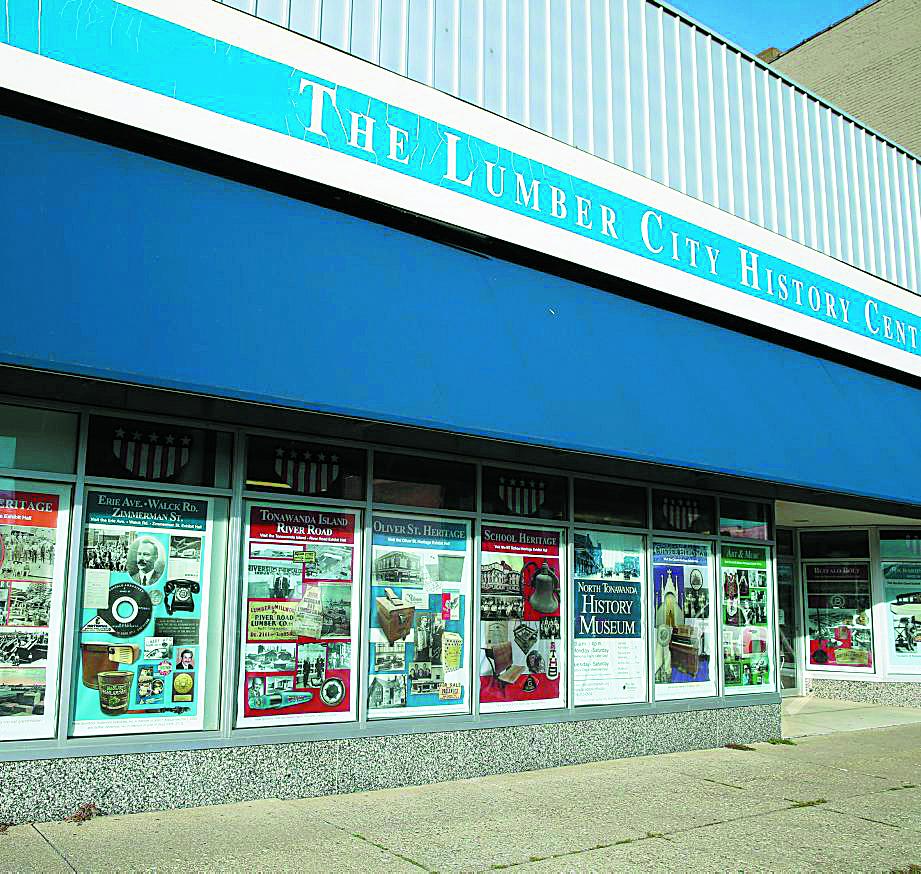 The North Tonawanda History Museum  with all the decorative window panes in North Tonawanda, N.Y., on Tuesday,  Nov. 17, 2015.   (John Hickey/Buffalo News)
