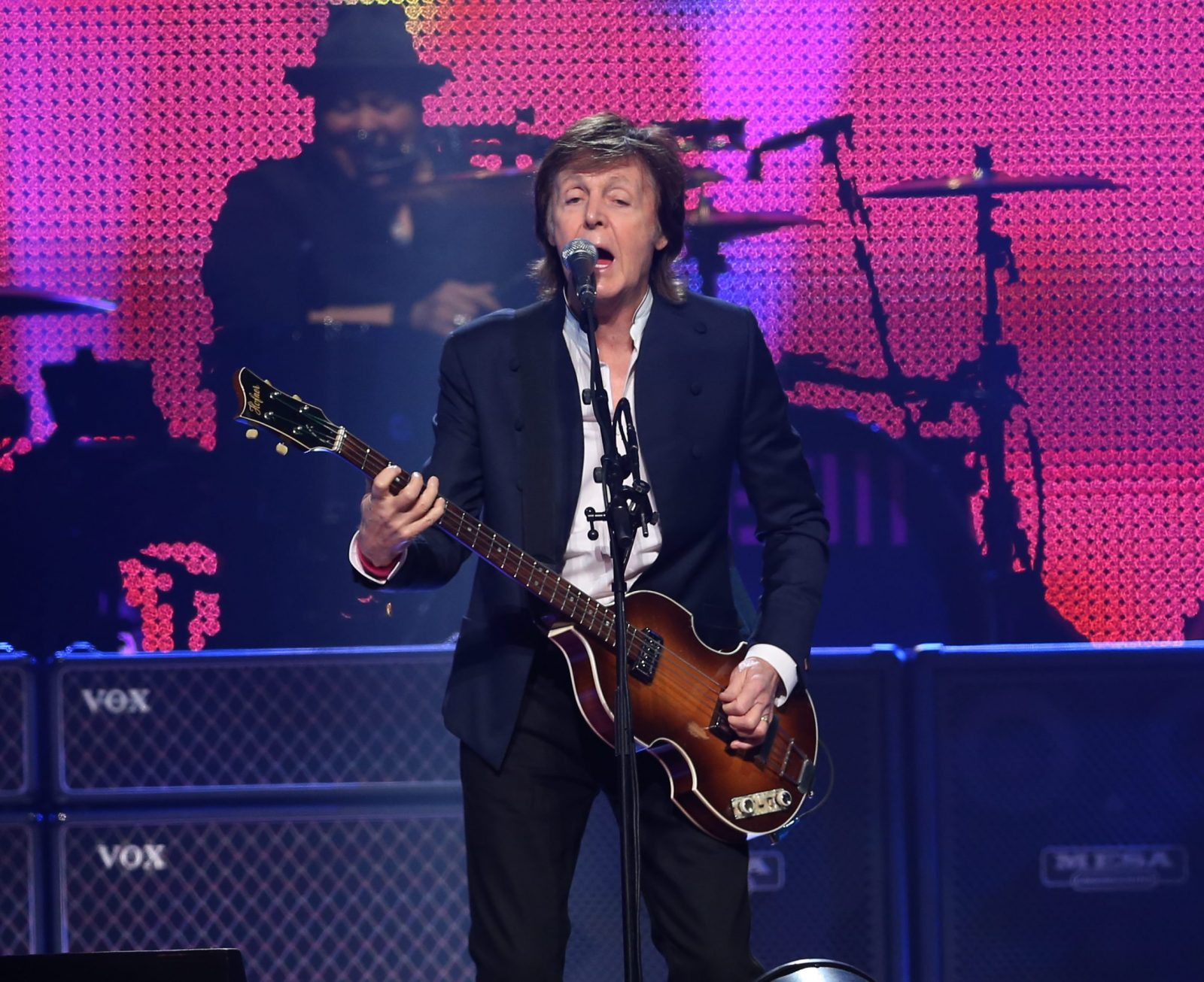 Paul McCartney performs at the last stop on his tour to a sold out crowd in 2015 at First Niagara Center. (Sharon Cantillon/Buffalo News)