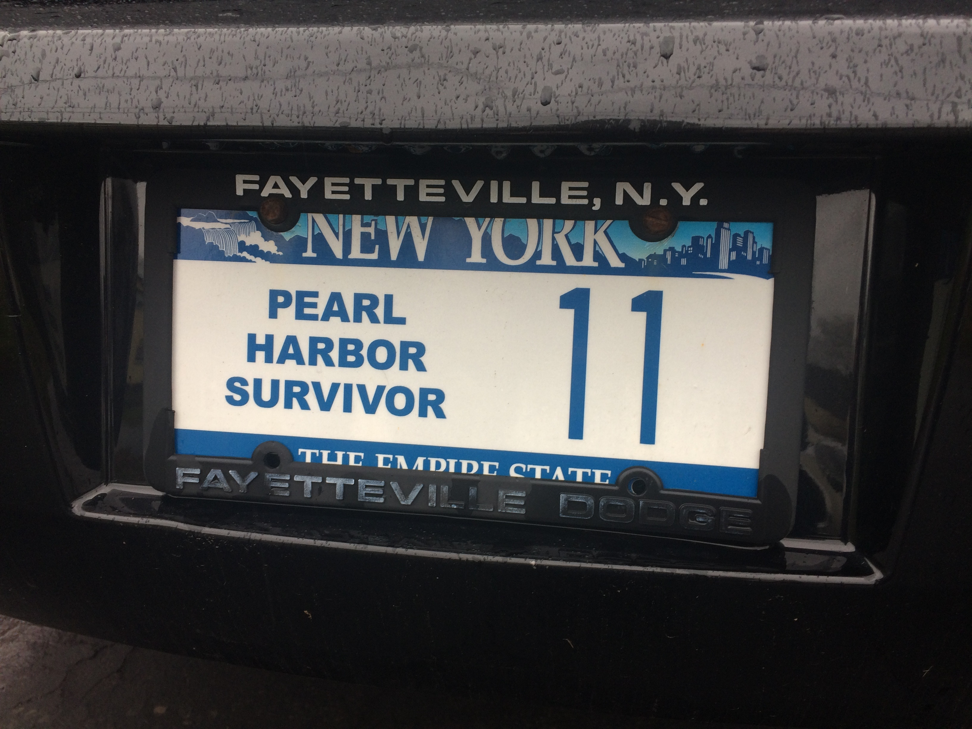 The license plate on Ed Stone's car. (Sean Kirst/submitted image)
