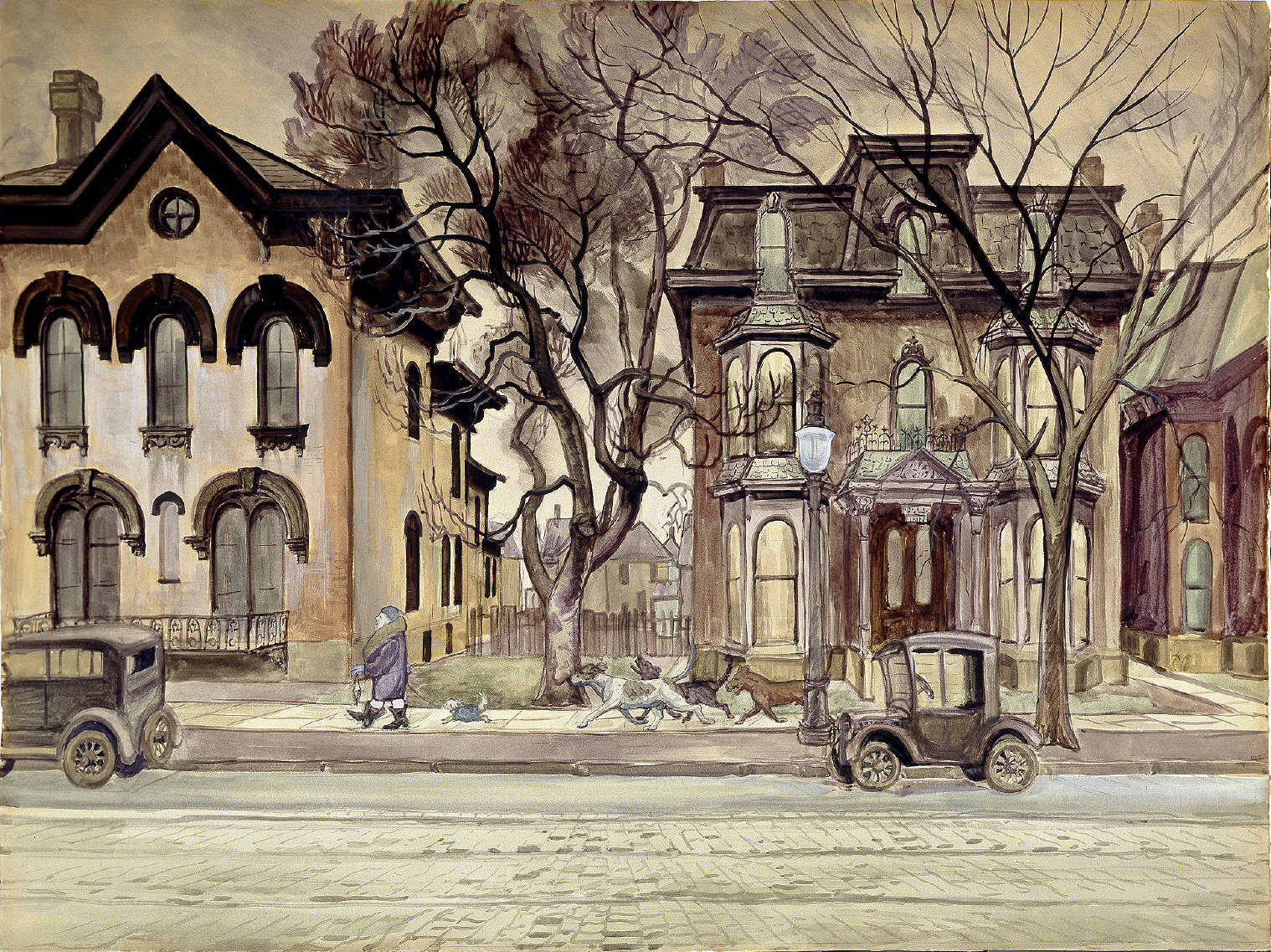 The Promenade, Charles Burchfield. (Charles E. Burchfield Archives)