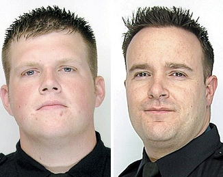 Raymond Krug, left, and Joseph Wendel are accused of using excessive force during a 2009 arrest.