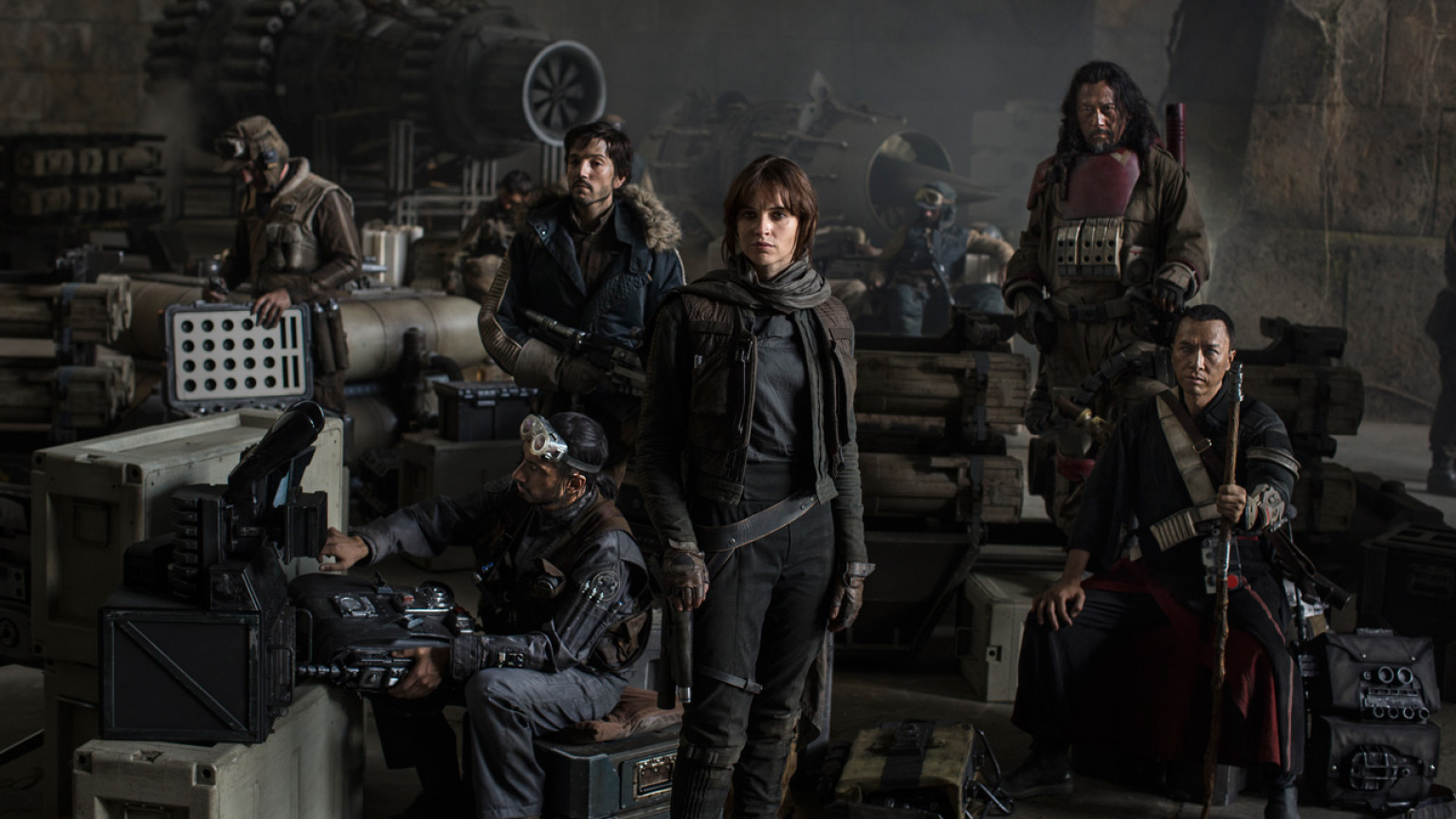 The cast of 'Rogue One: A Star Wars Story.'